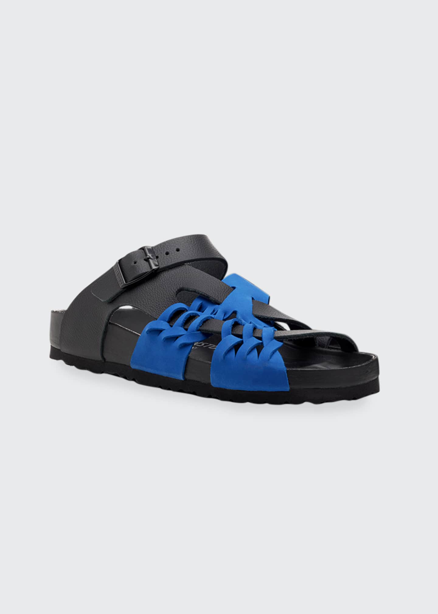 Image 2 of 3: x CSM Tallahassee Woven Colorblock Leather Slide Sandals