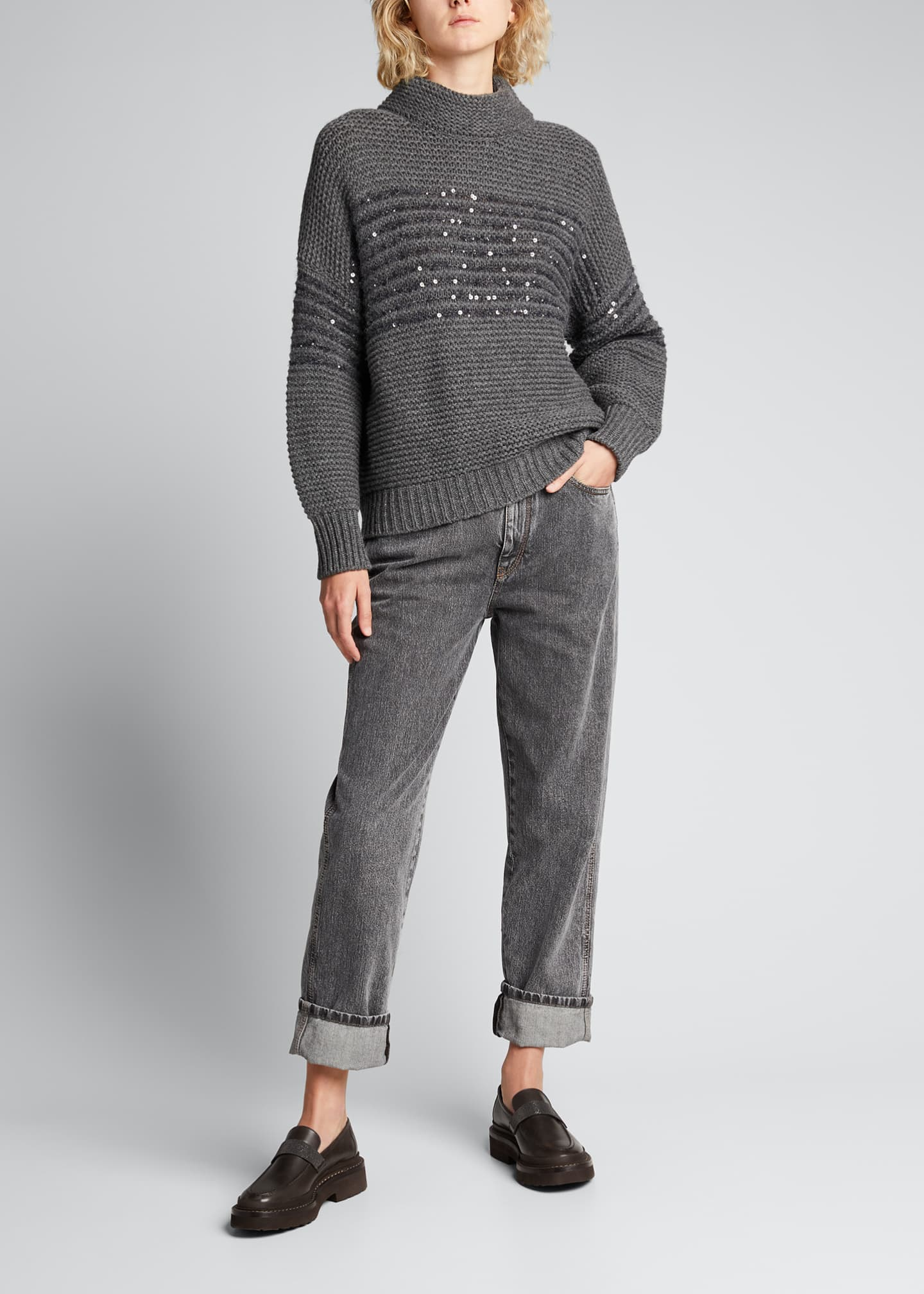 Image 1 of 5: Garment Dyed Relaxed-Fit Jeans