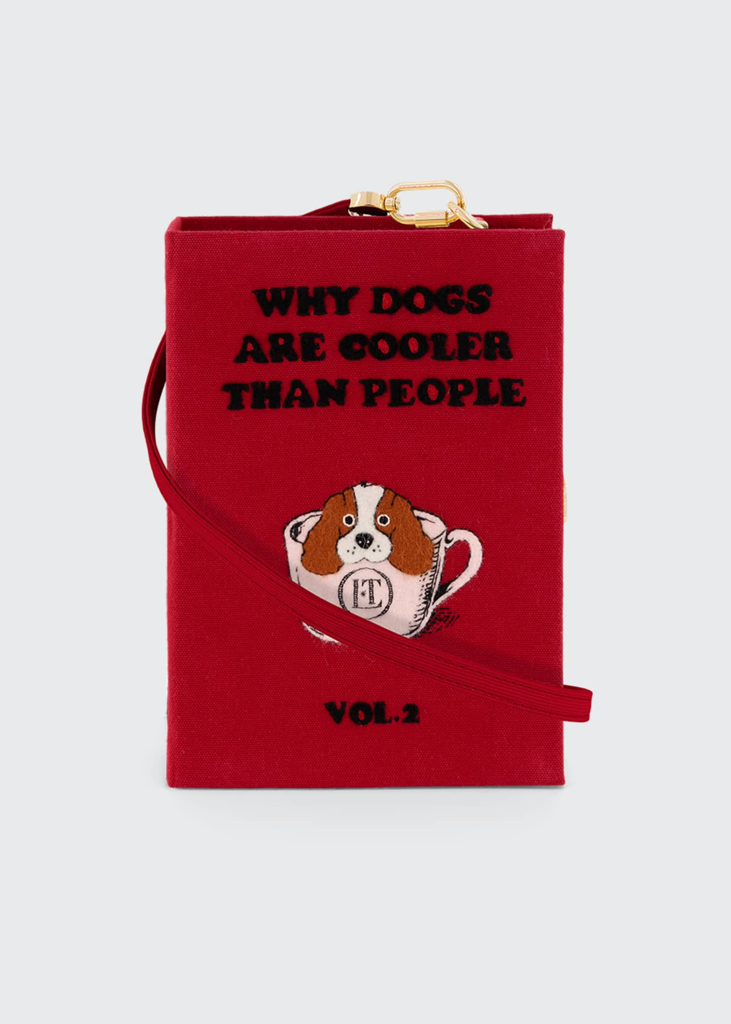 Image 1 of 4: I Love Dogs Book Clutch Bag