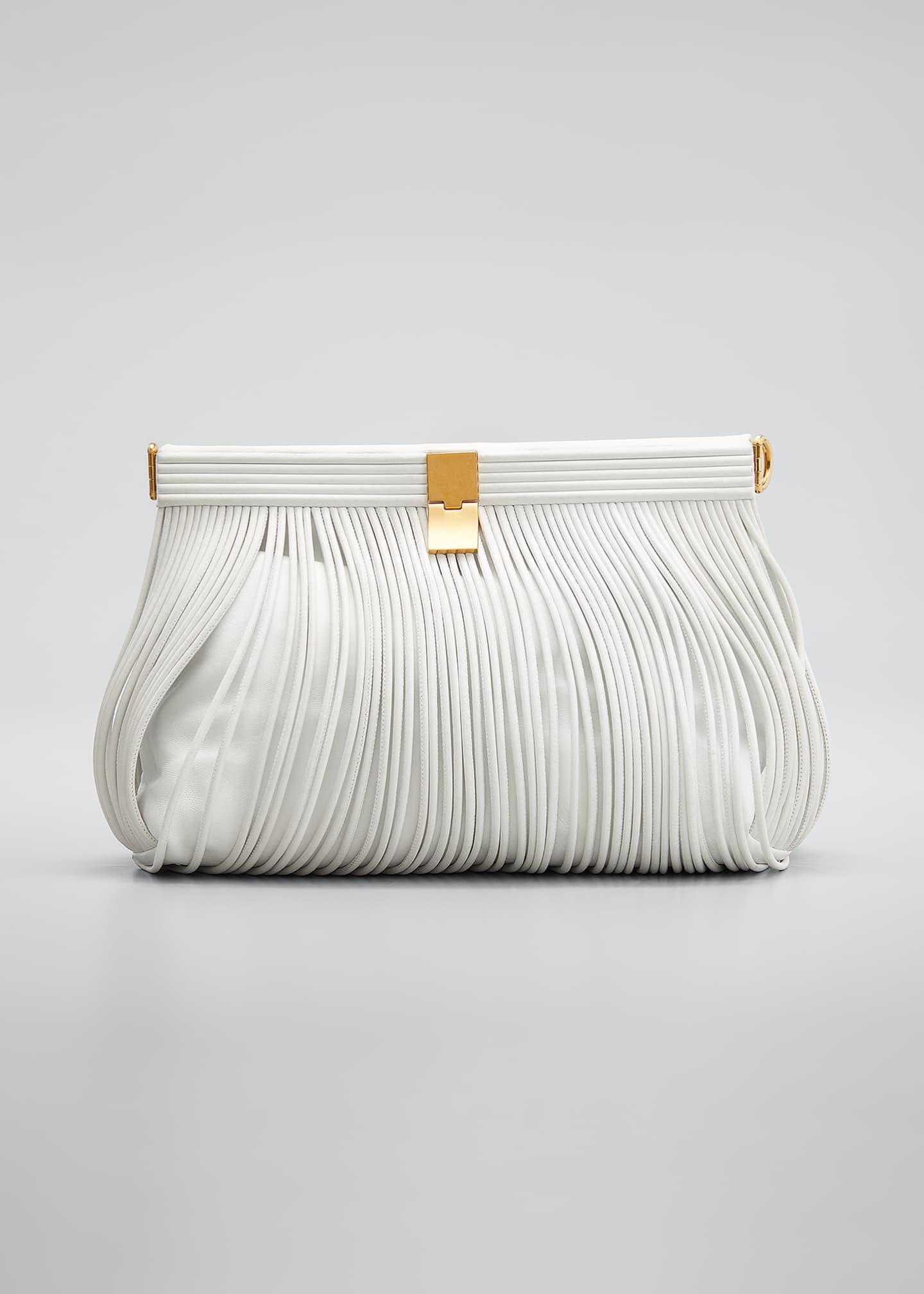 Image 1 of 5: Rolo Fringe Napa Clutch Bag