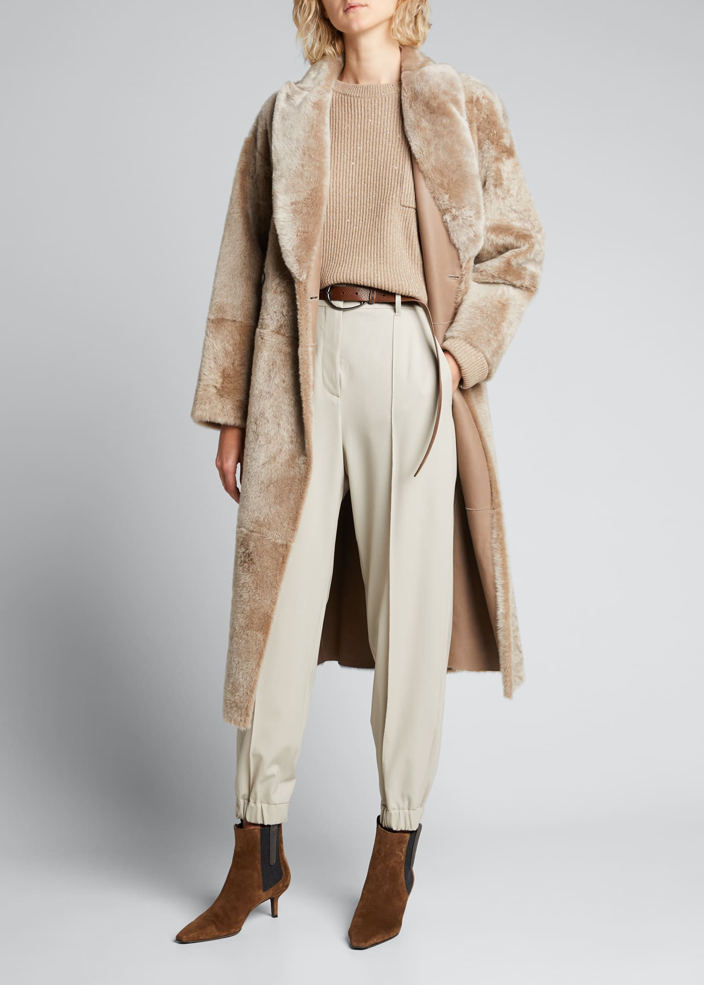 Image 1 of 5: Active Wool-Blend Trousers