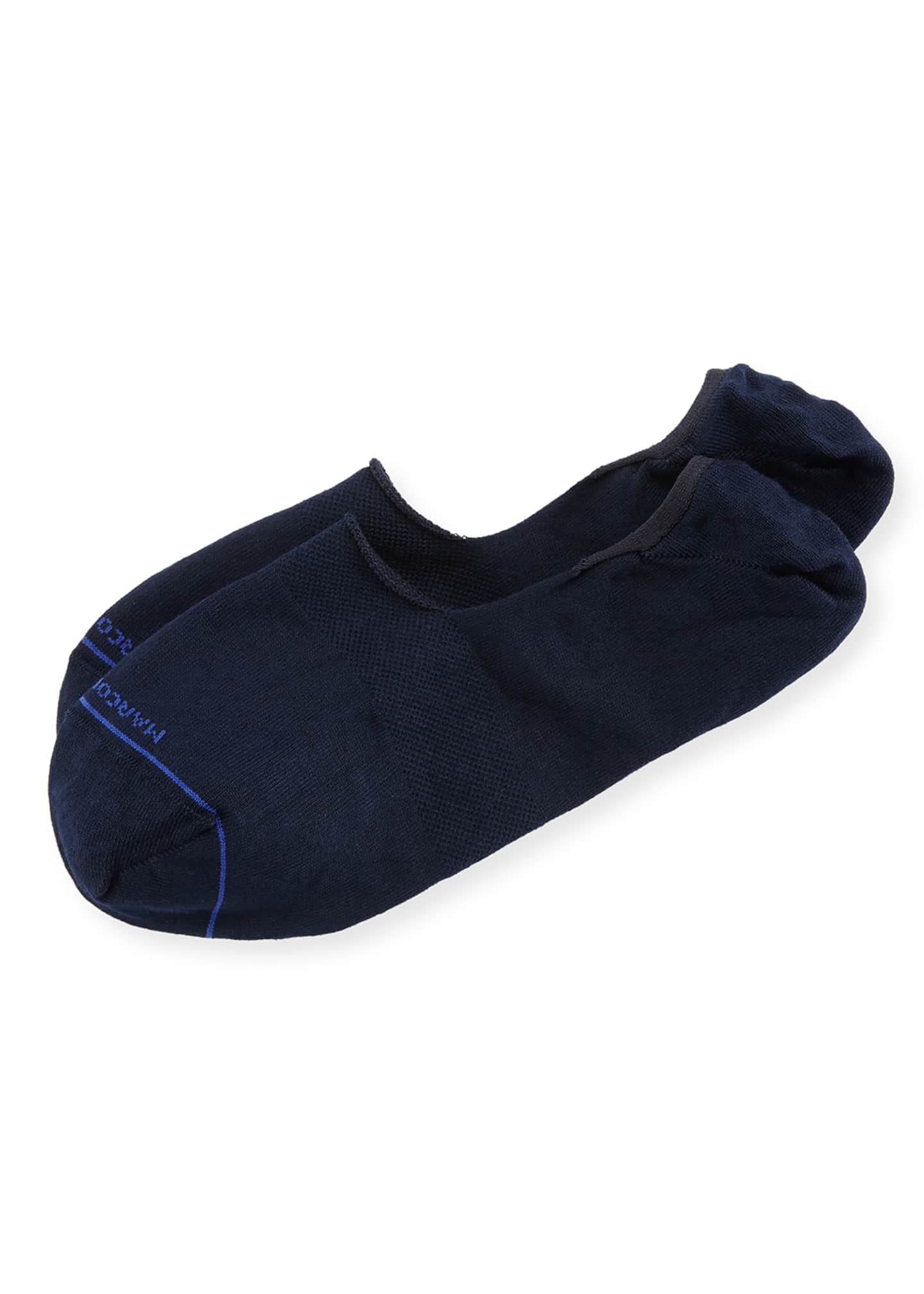 Marcoliani Invisible Touch Solid Now-Show Socks, Navy