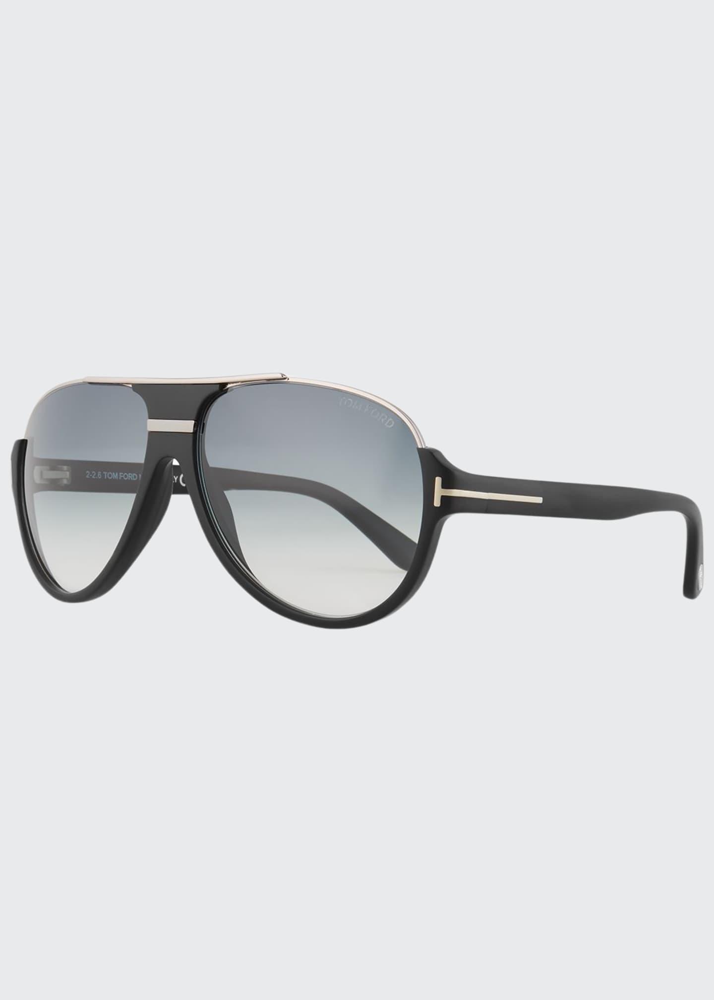 TOM FORD Dimitry Half-Rim Aviator Sunglasses