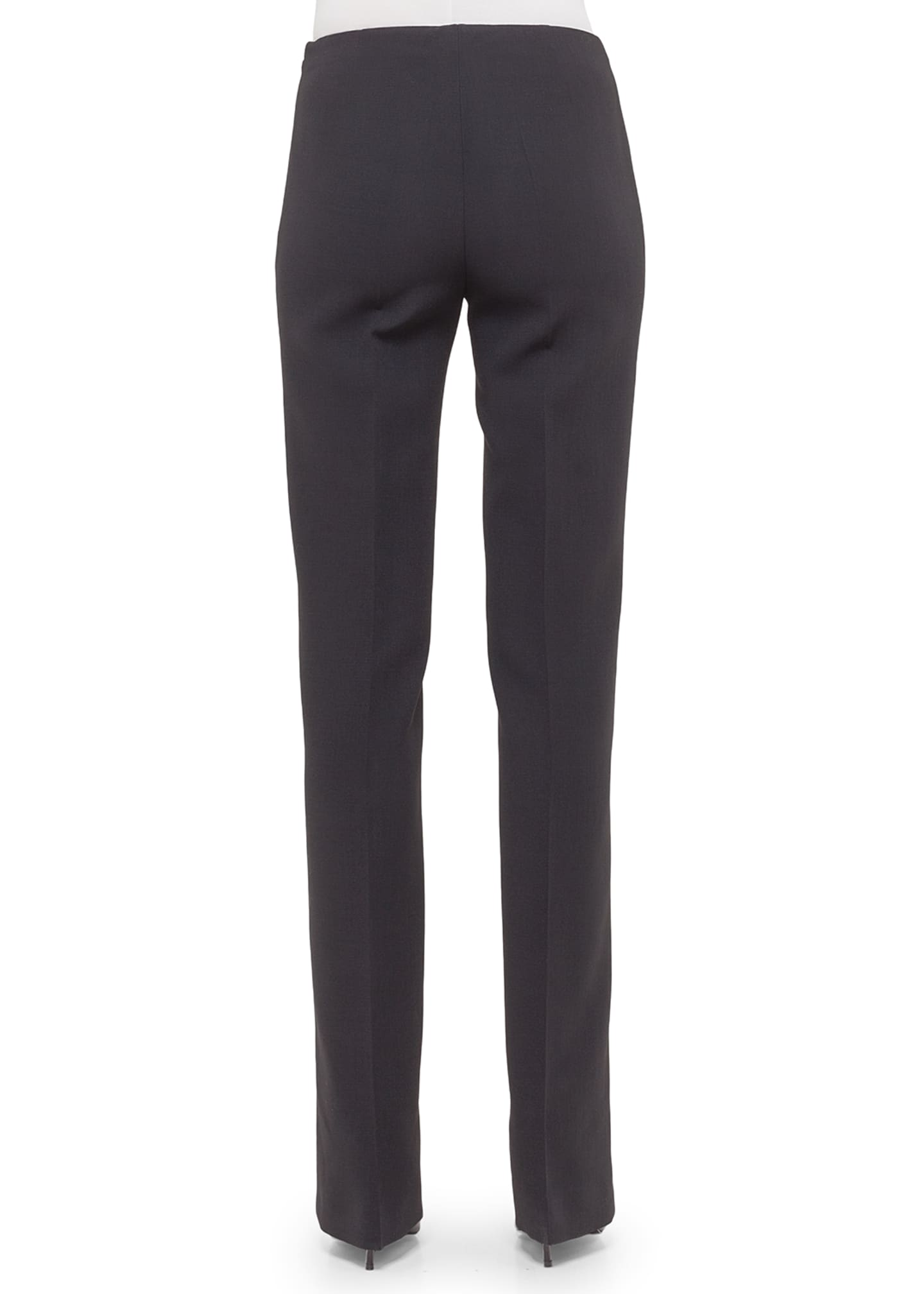 Image 2 of 2: Carol Double-Face Wool Pants, Navy