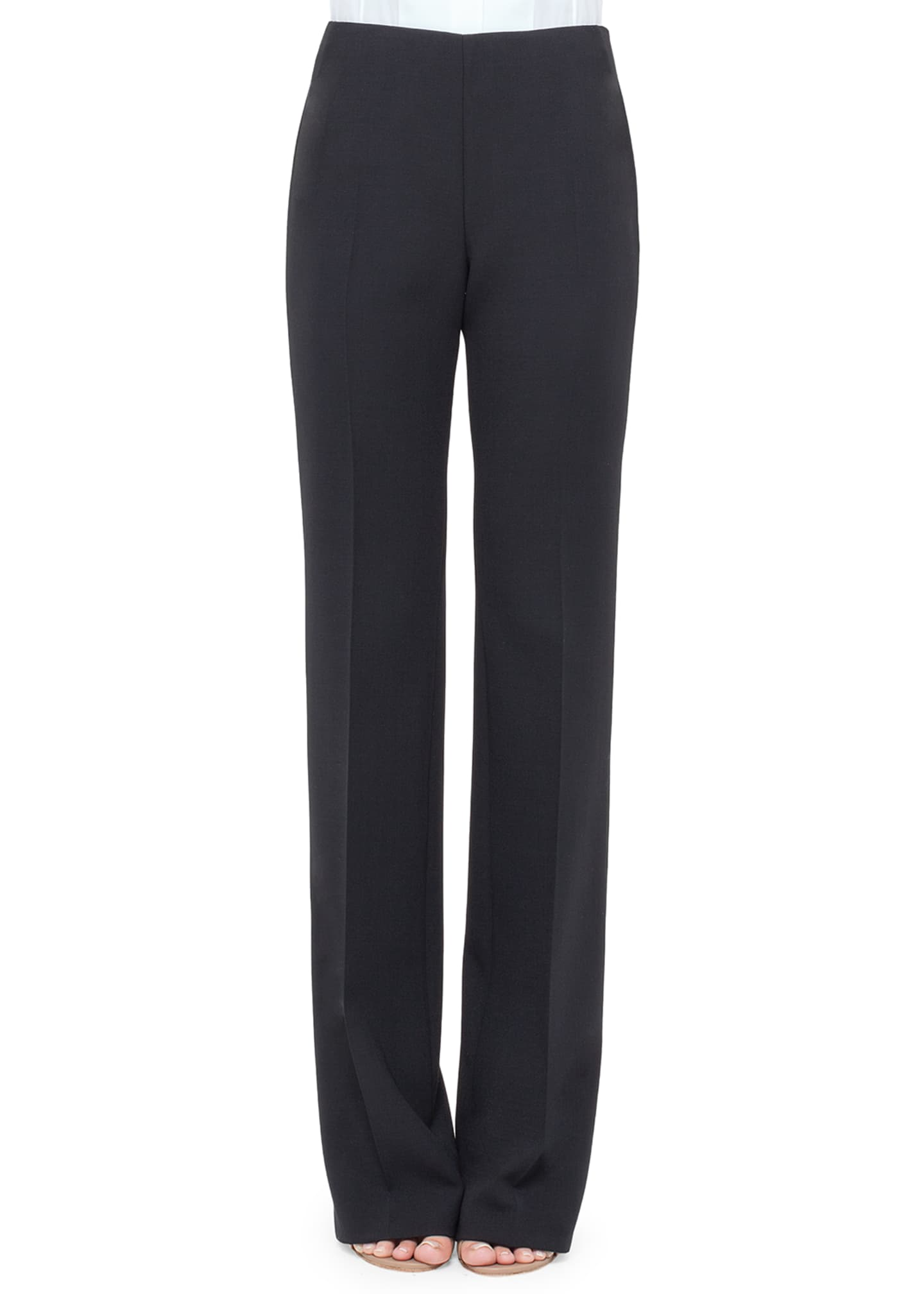 Image 1 of 2: Carol Double-Face Wool Pants, Navy