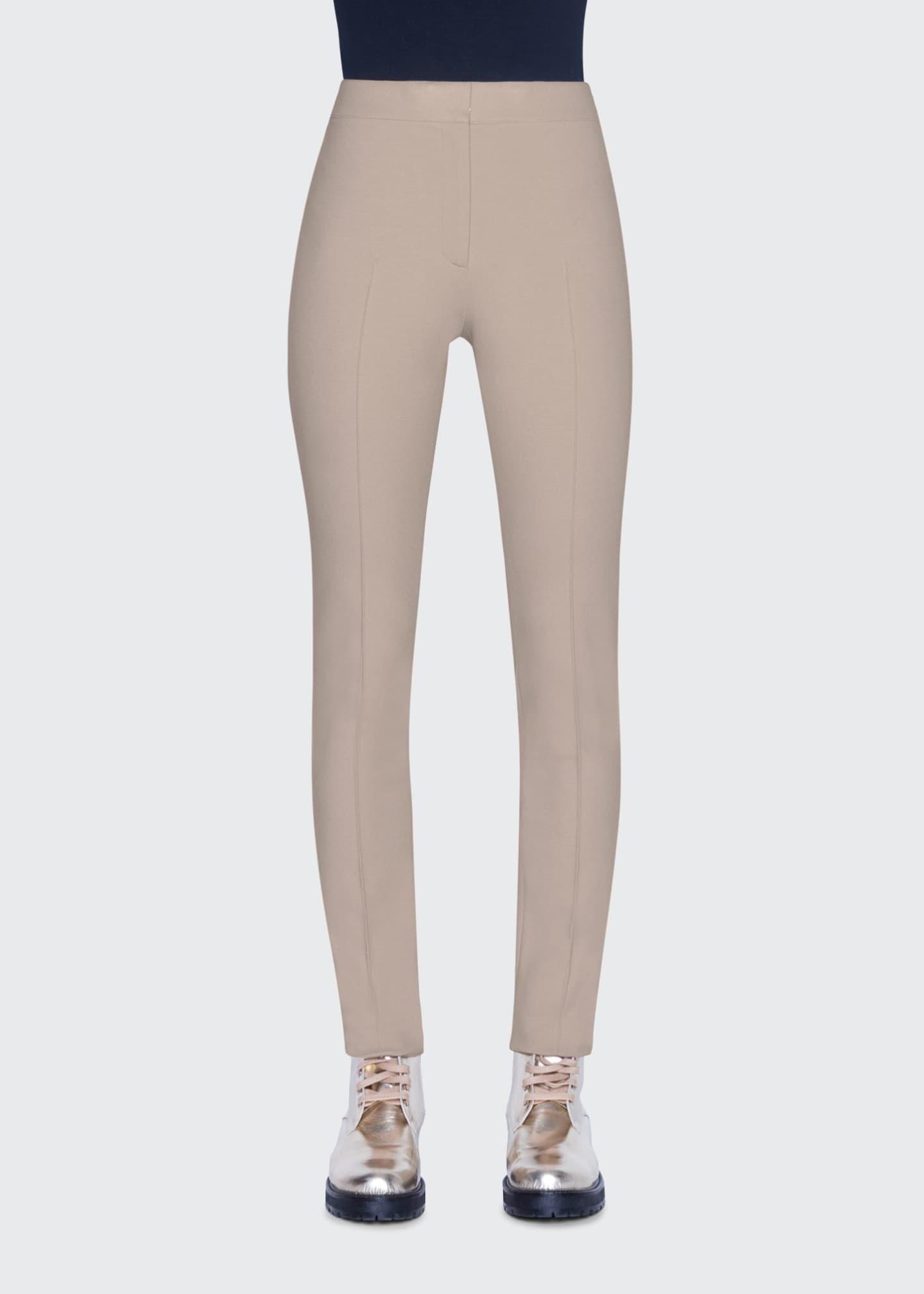 Akris punto Mara Seamed Skinny Jersey Pants