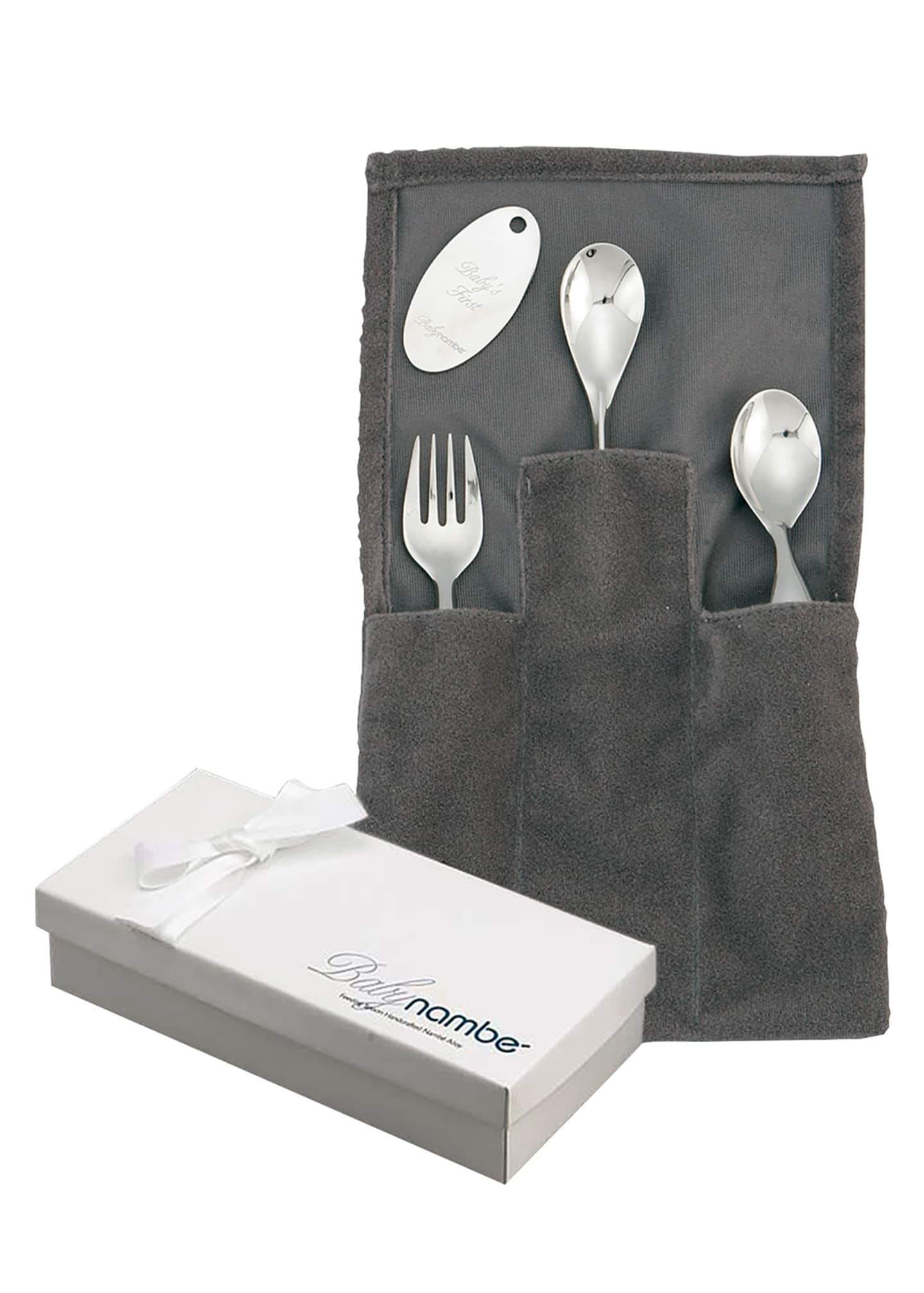 Image 2 of 2: Classic Stainless Steel Three-Piece Feeding Set