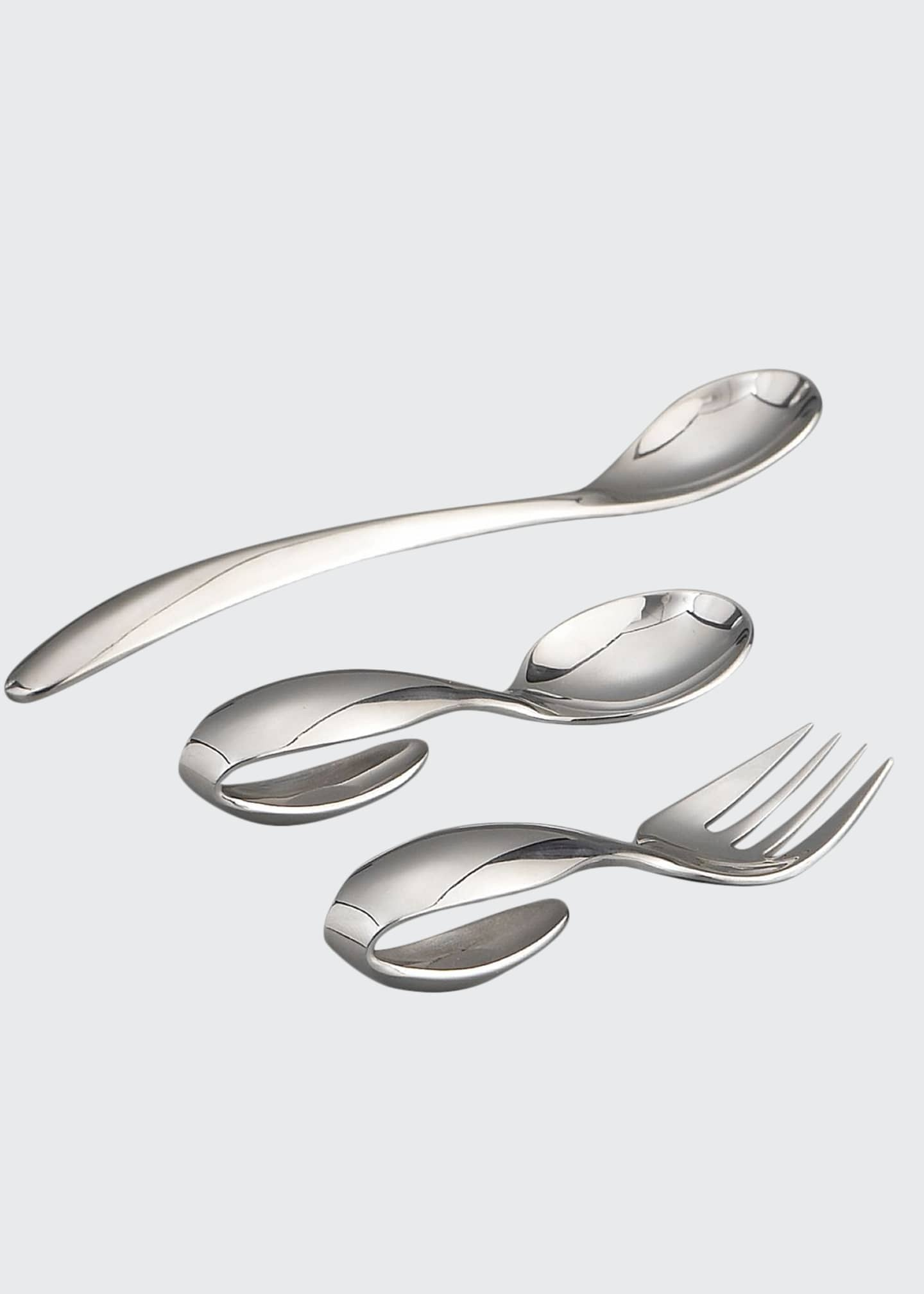 Image 1 of 2: Classic Stainless Steel Three-Piece Feeding Set