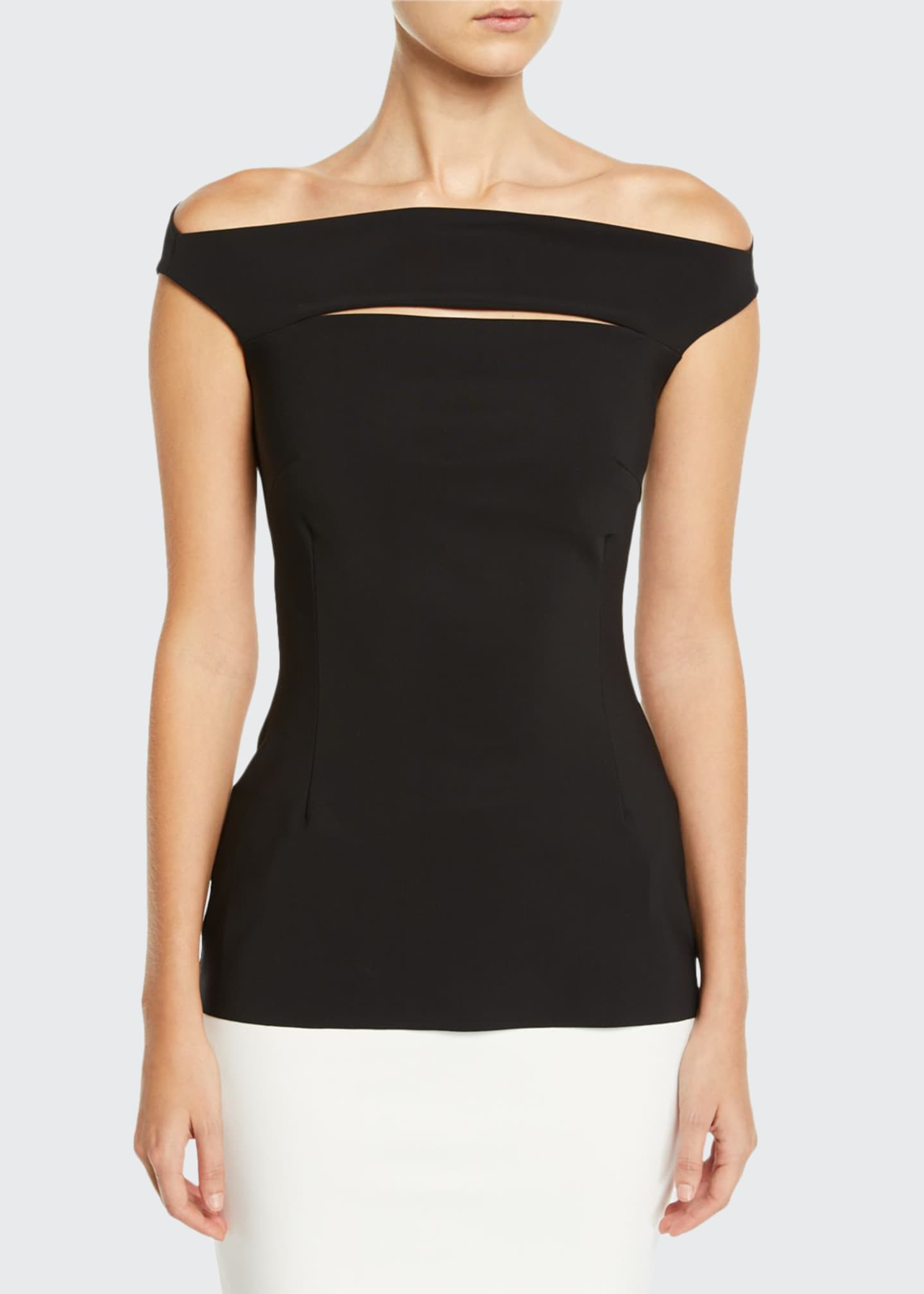Chiara Boni La Petite Robe Karen Slit-Front Off-the-Shoulder