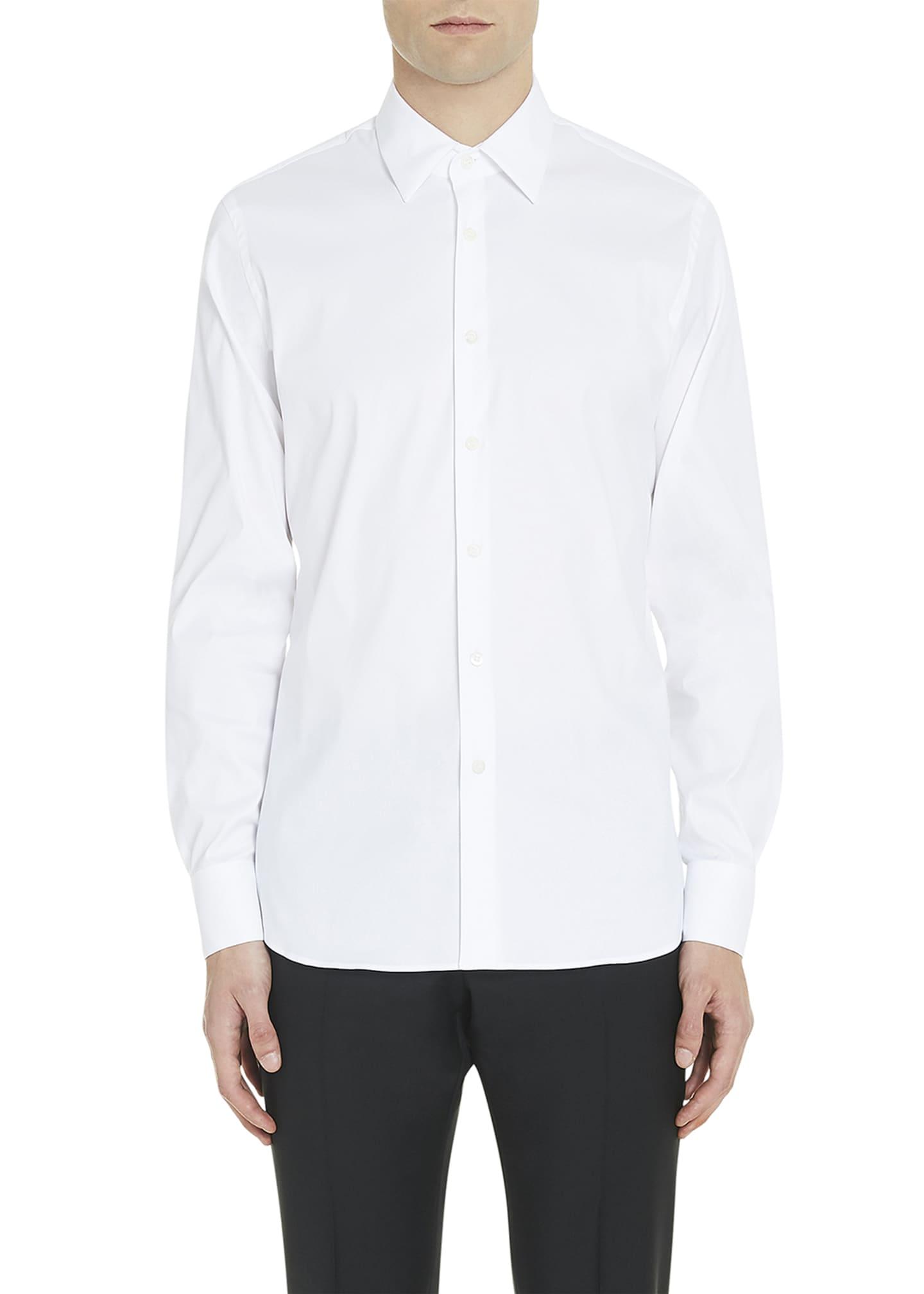 Prada Classic Cotton Poplin Slim-Fit Shirt