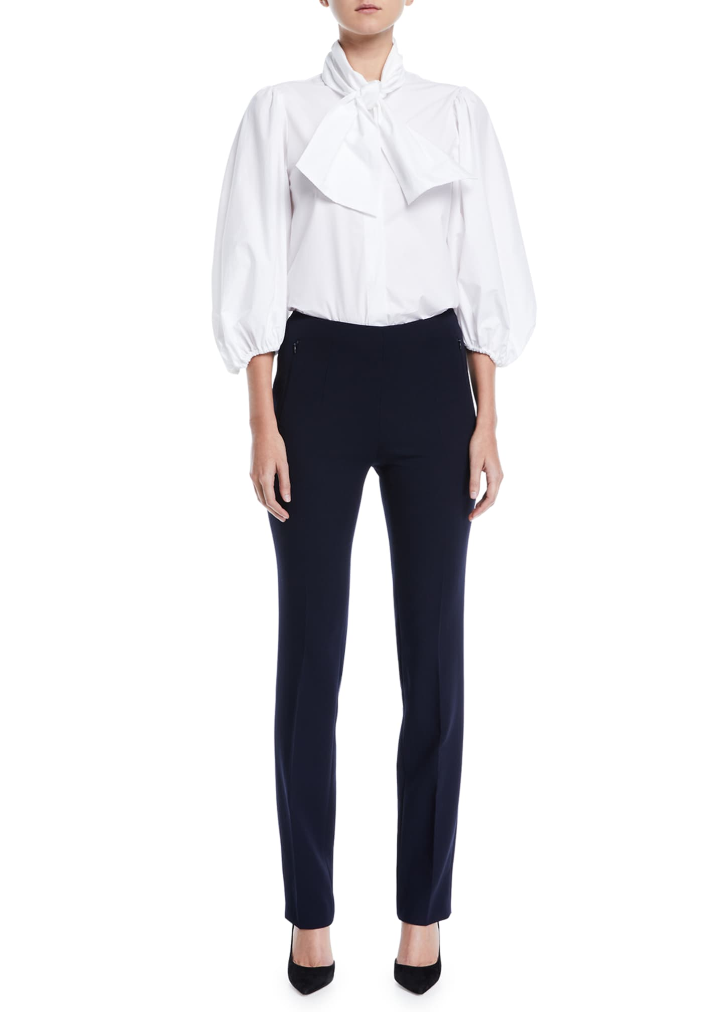 Image 3 of 3: Constance Double-Face Wool Pants