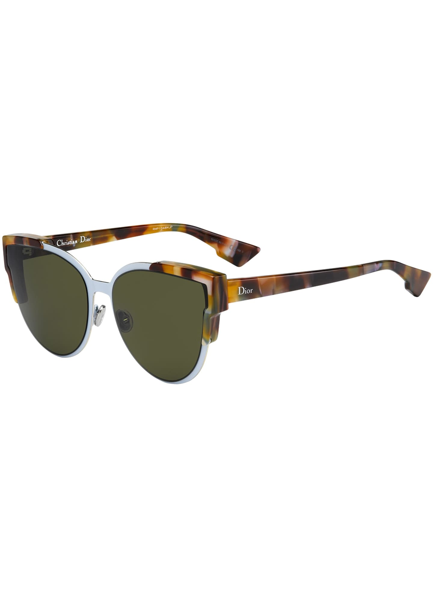 Dior Wildly Dior Cat-Eye Sunglasses, Havana/Light Blue