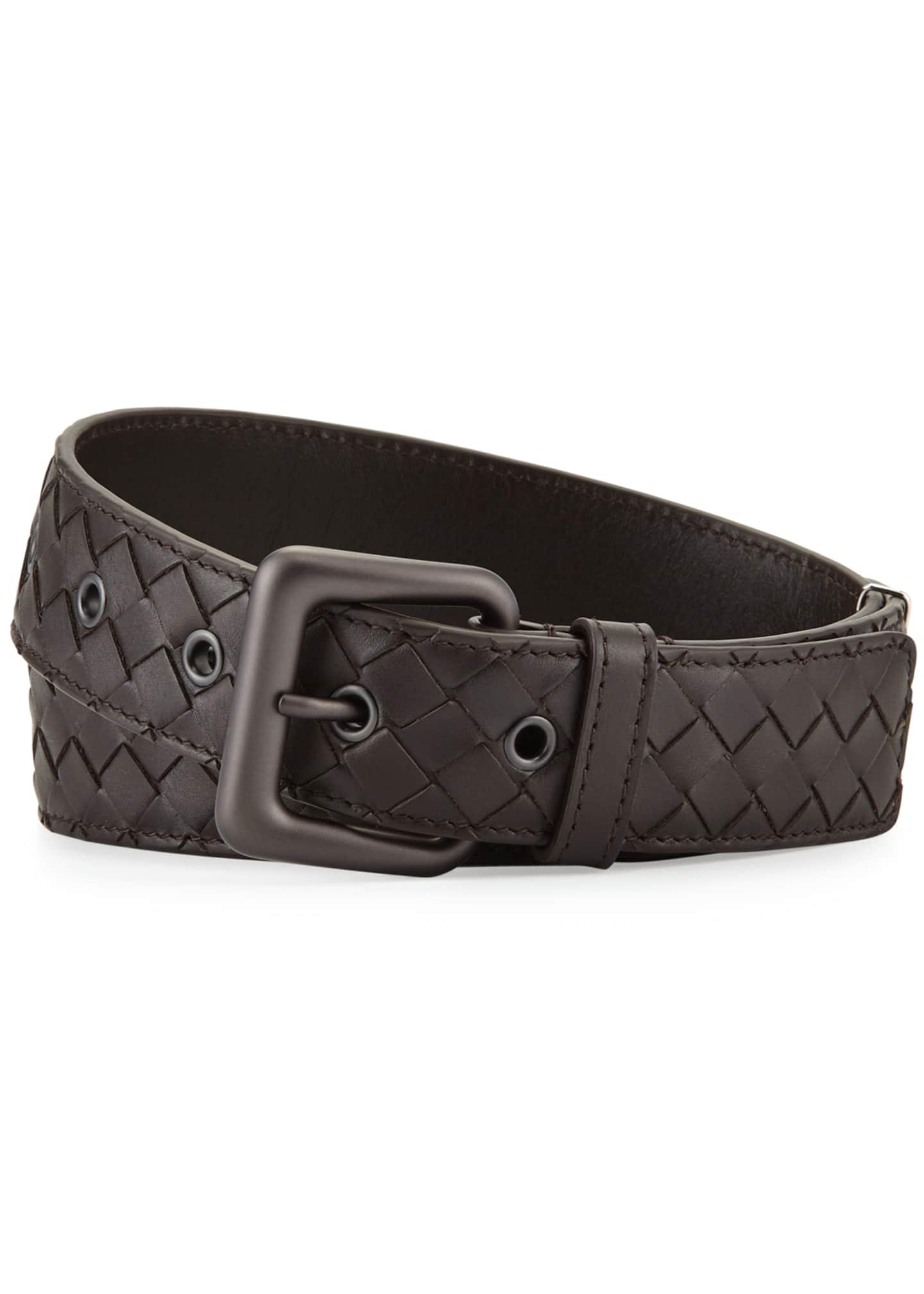 Bottega Veneta Intrecciato Woven Buckle Belt