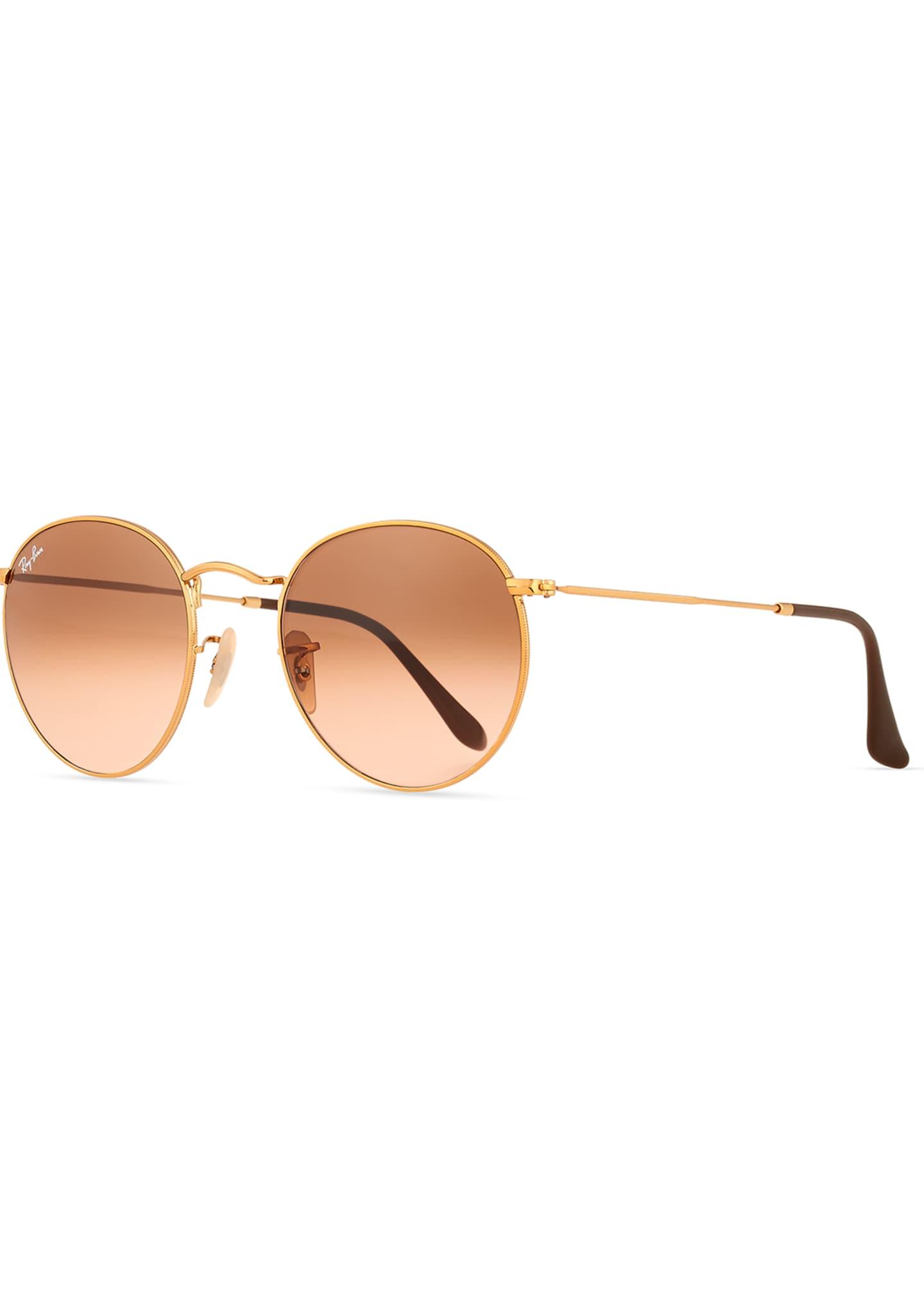 Ray-Ban Gradient Round Metal Sunglasses