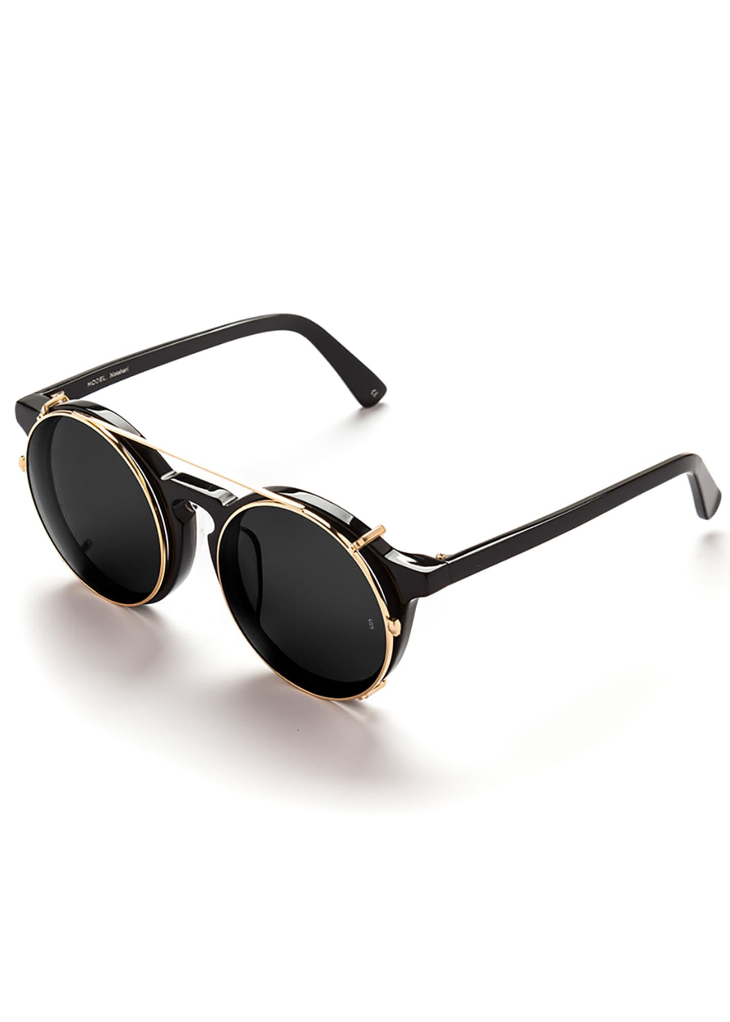Sunday Somewhere Matahari Round Clip-On Sunglasses
