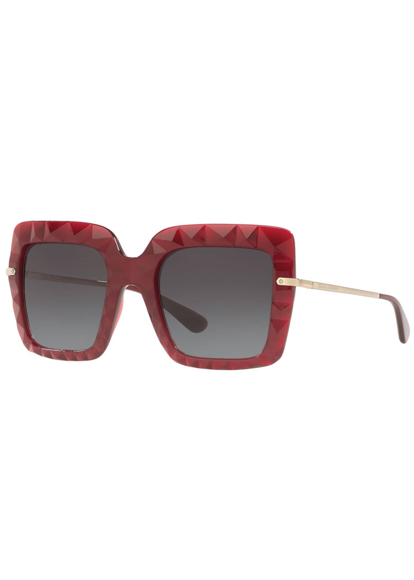 Dolce & Gabbana Square Faceted Sunglasses