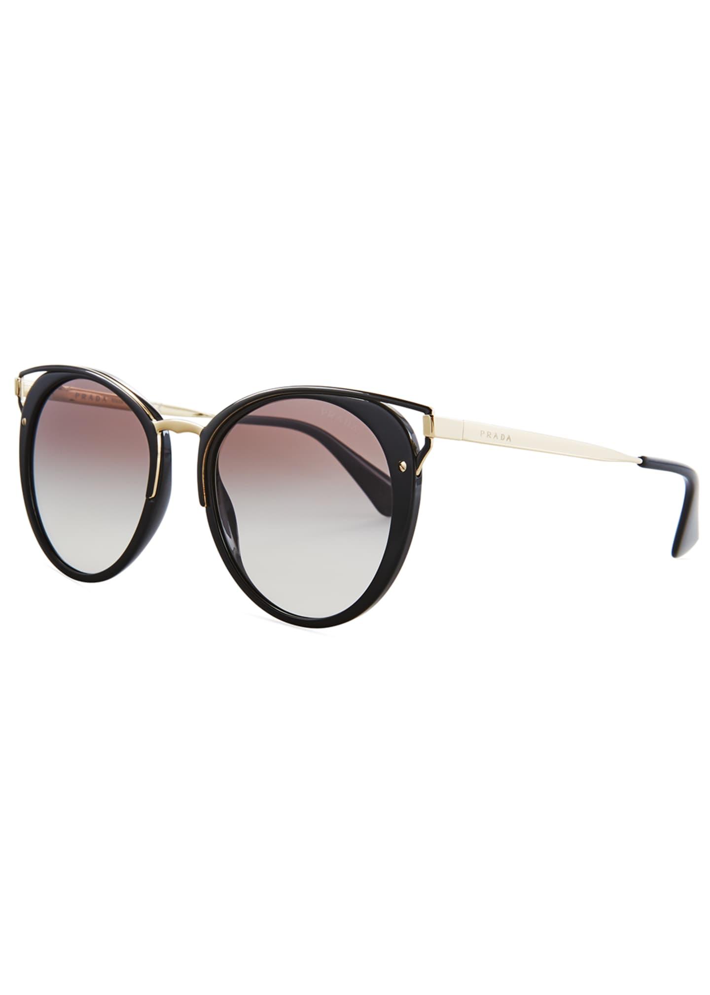 Prada Cutout Round Sunglasses