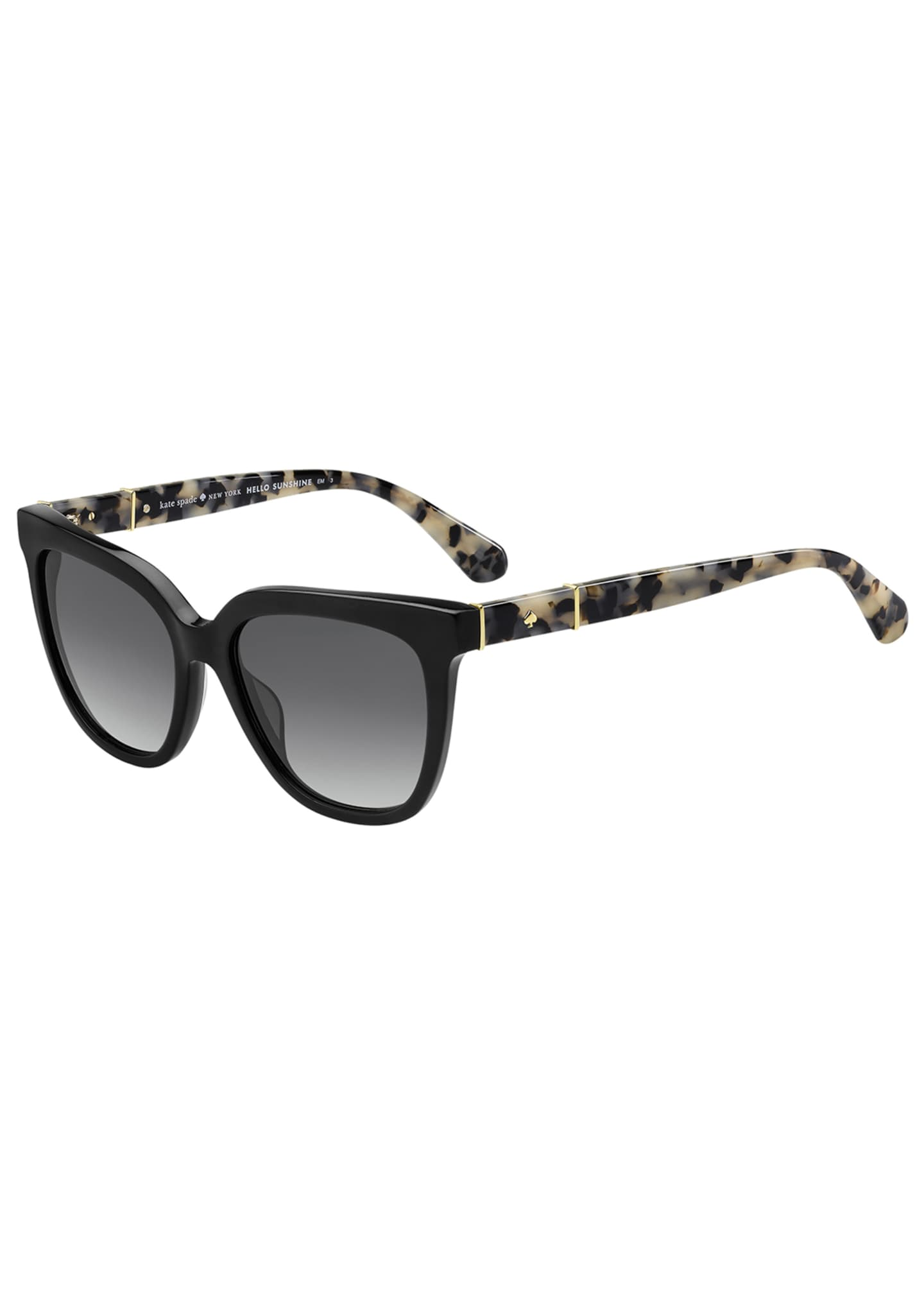 kate spade new york kahli two-tone acetate sunglasses