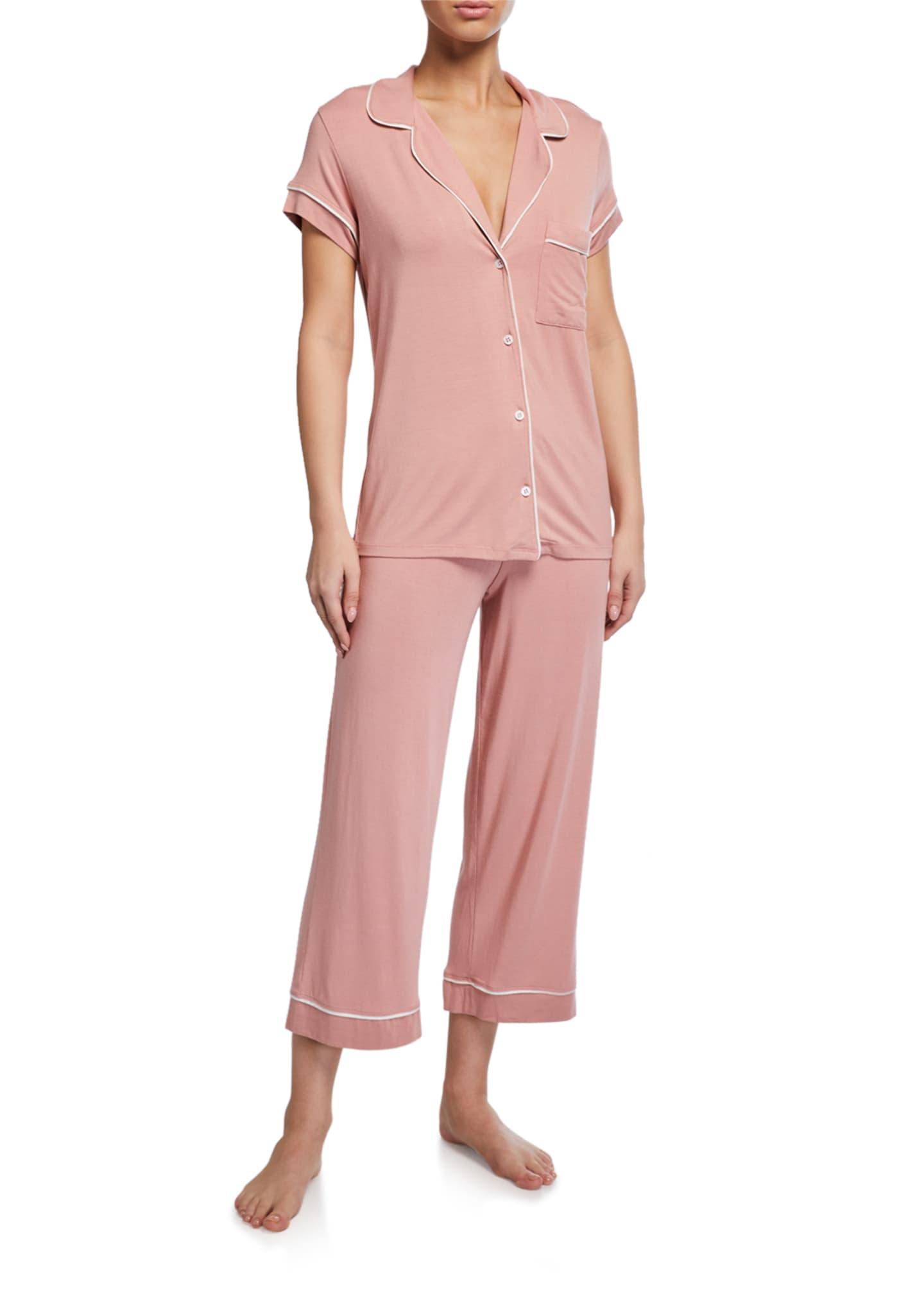 Eberjey Gisele Cropped Two-Piece Jersey Pajama Set
