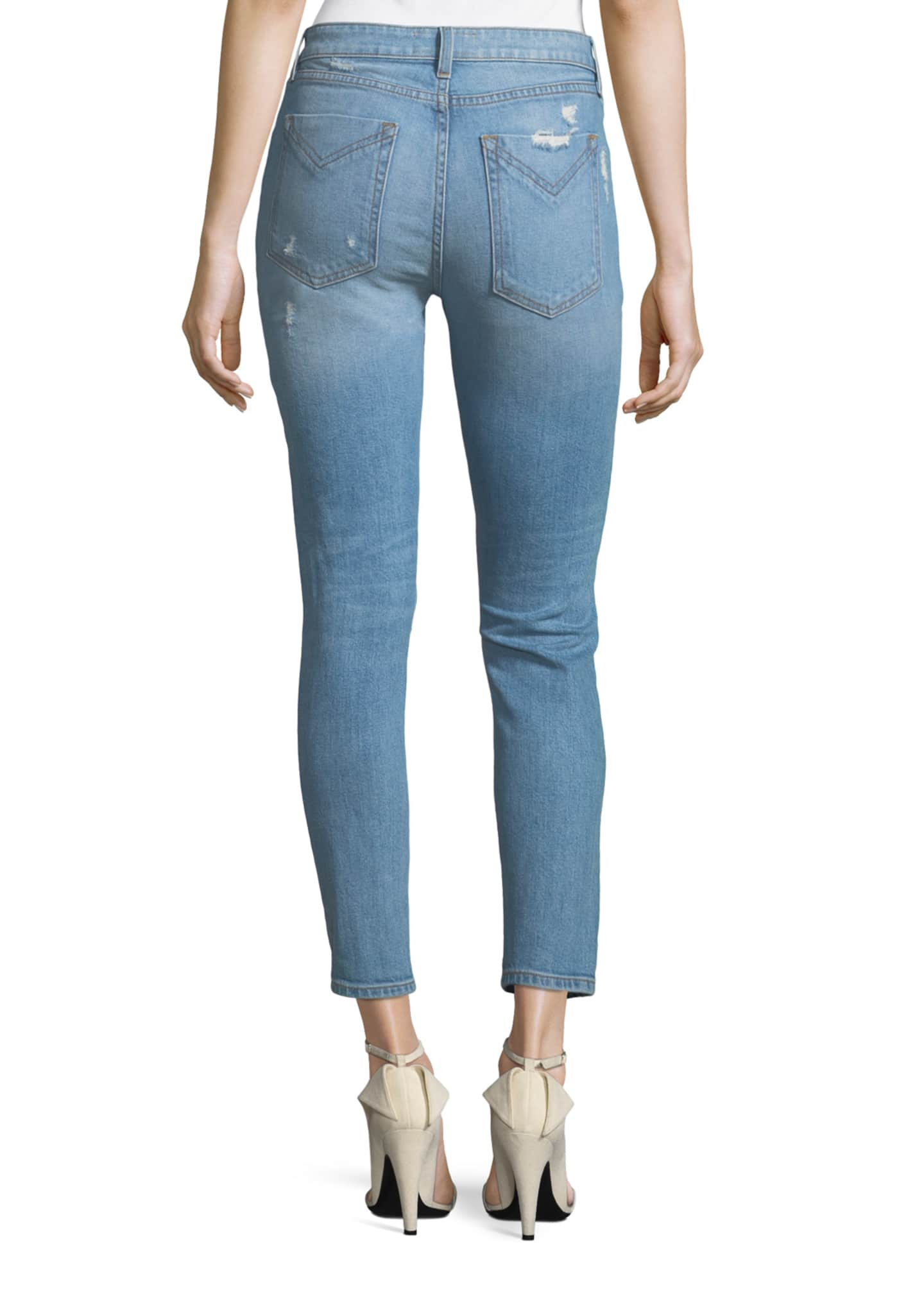 Image 2 of 3: Devi Distressed Mid-Rise Skinny Ankle Jeans