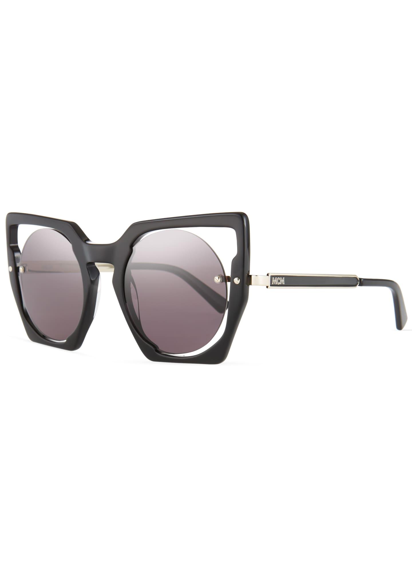 MCM Mirrored Cat-Eye Cutout Sunglasses