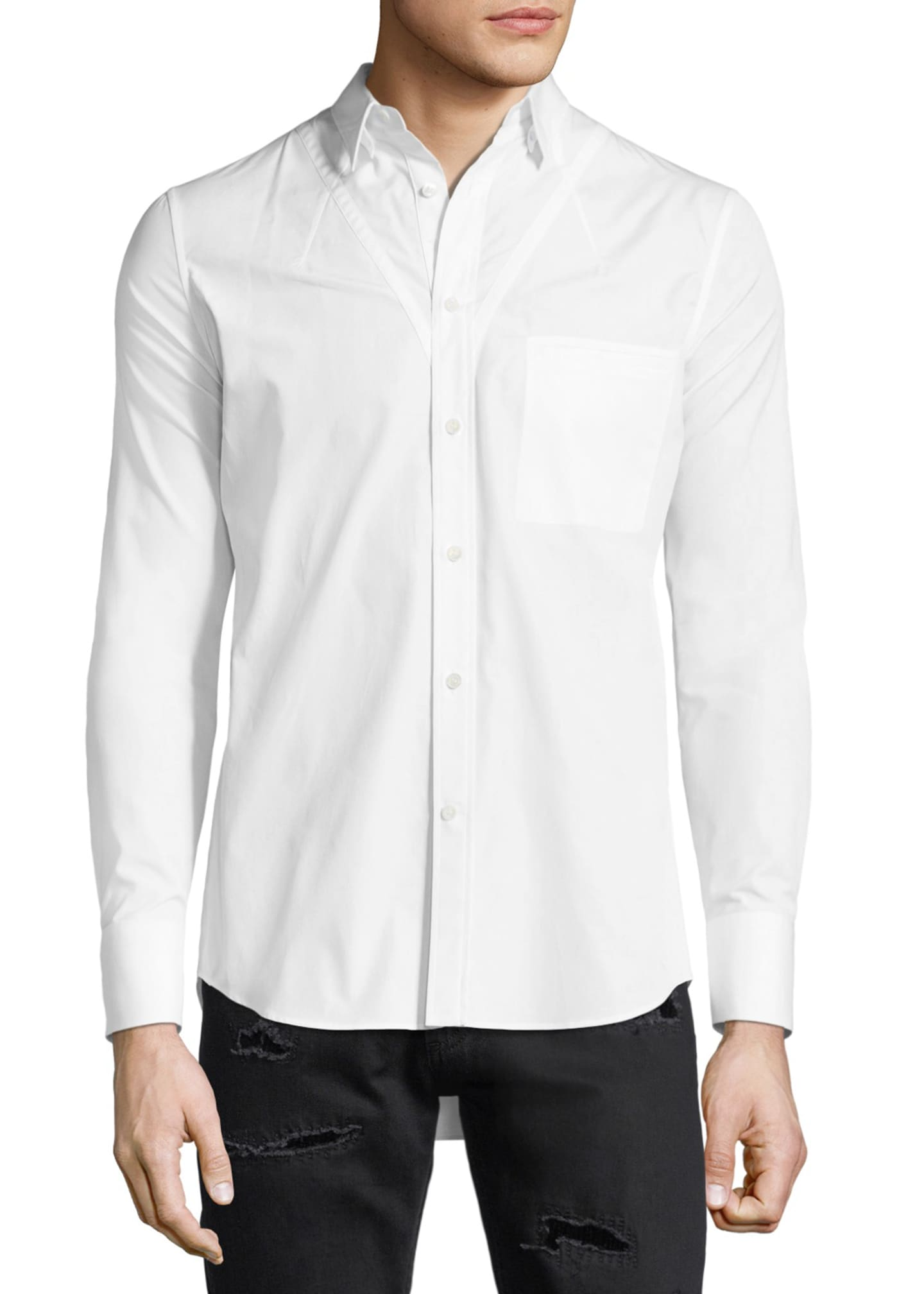Alexander McQueen Darted Cotton Sport Shirt