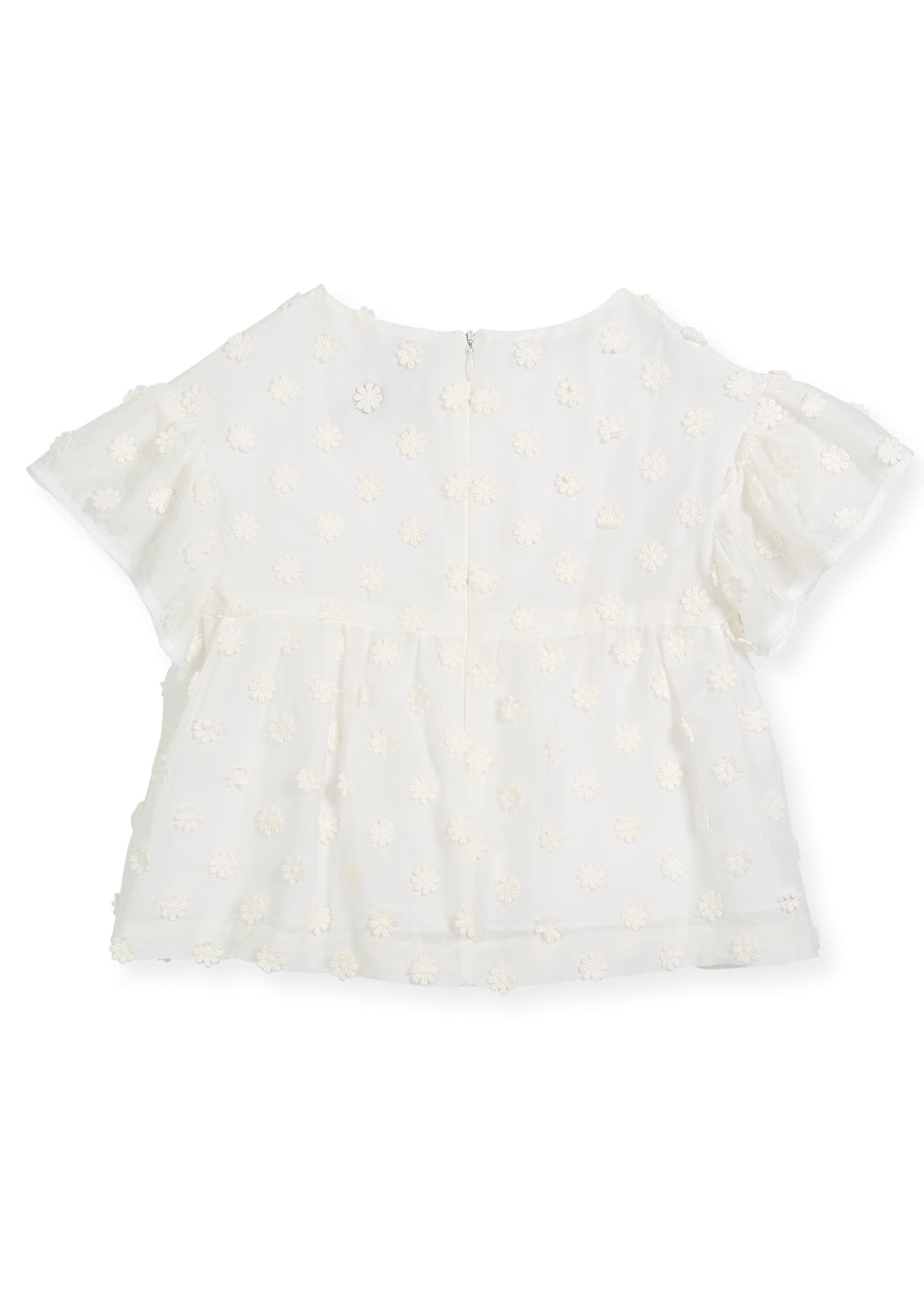 Image 2 of 2: Lindy Daisy-Embroidery Blouse, Size 8-16