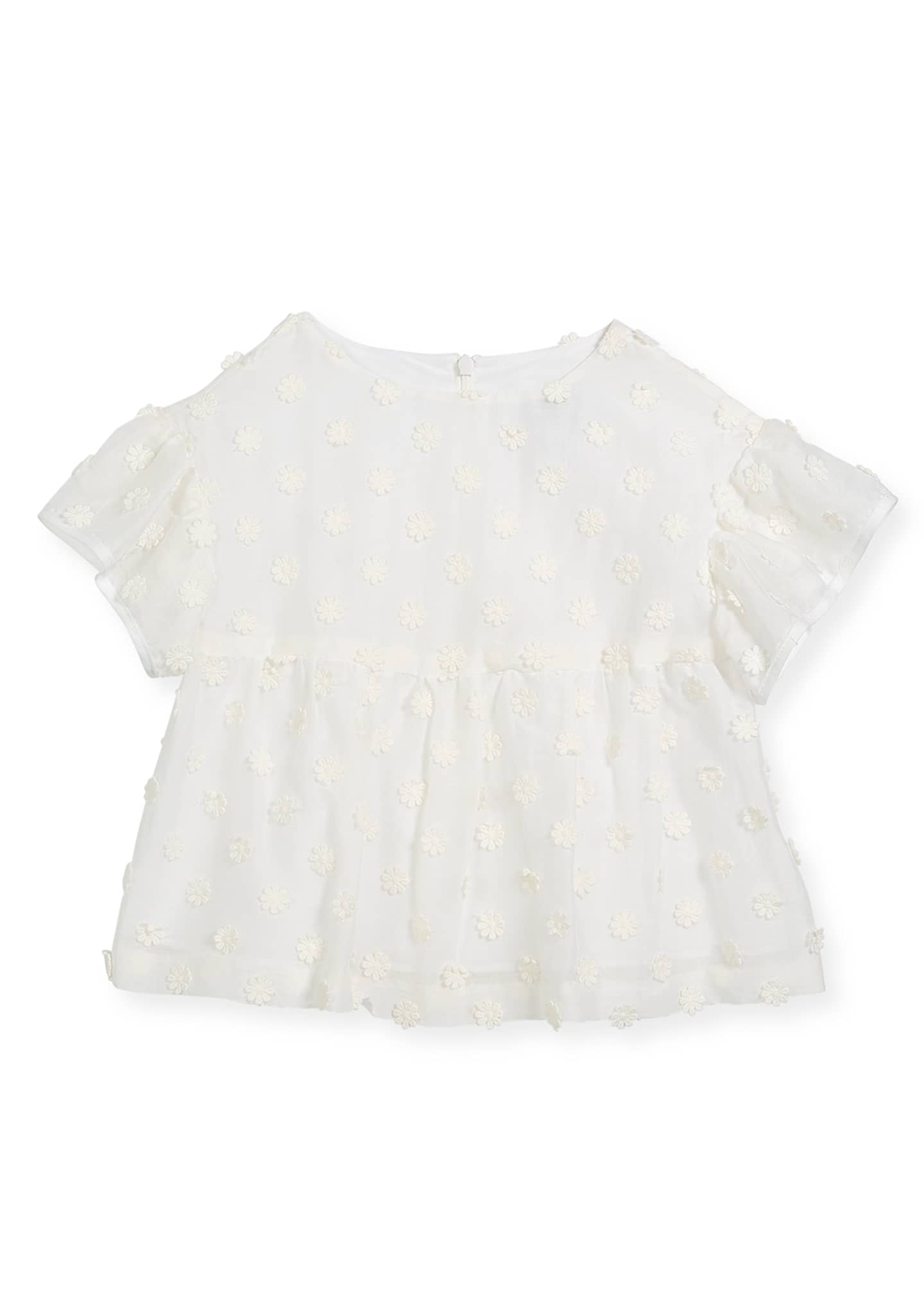Image 1 of 2: Lindy Daisy-Embroidery Blouse, Size 4-7