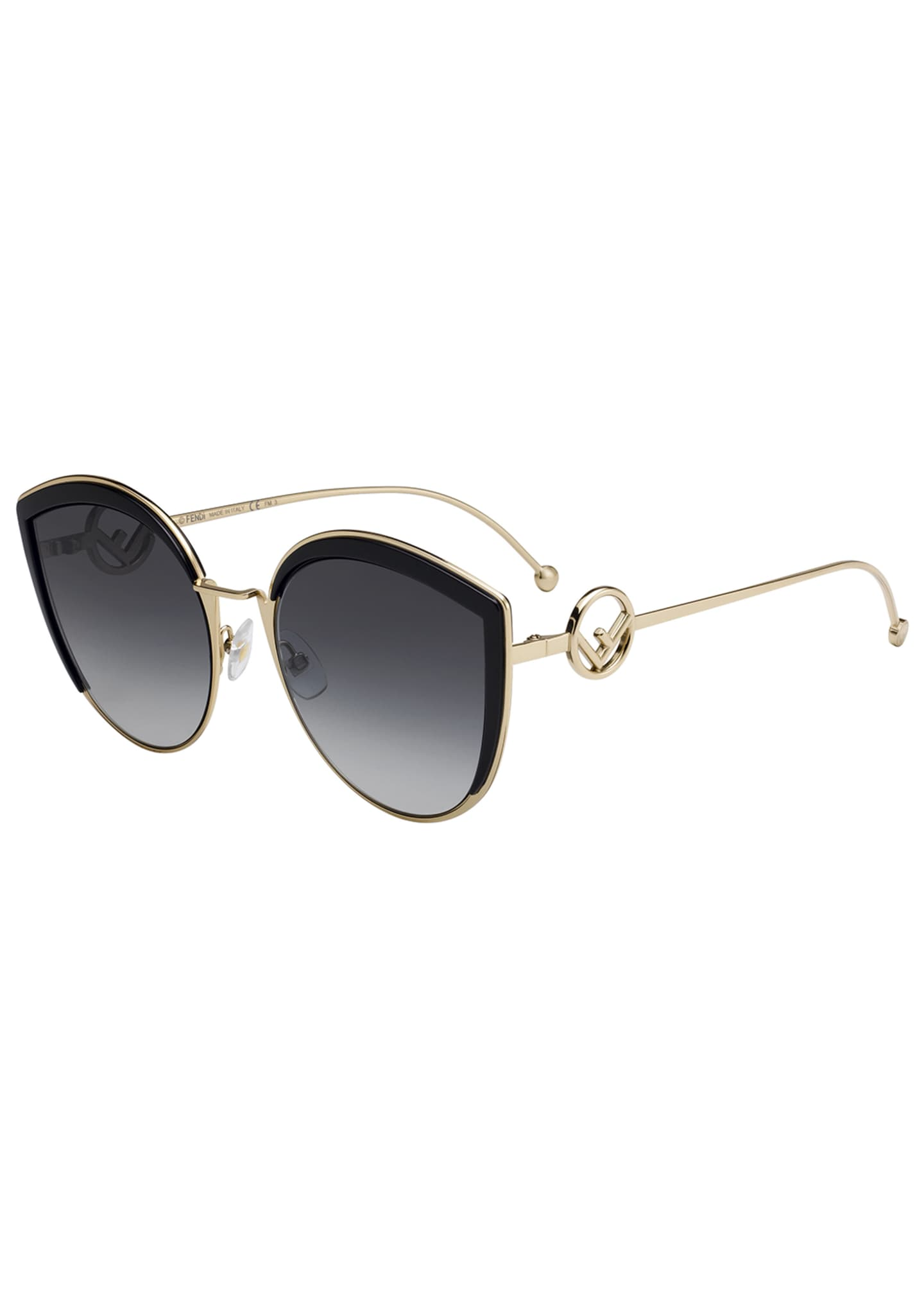 Fendi Cat Eye Metal Gradient Sunglasses