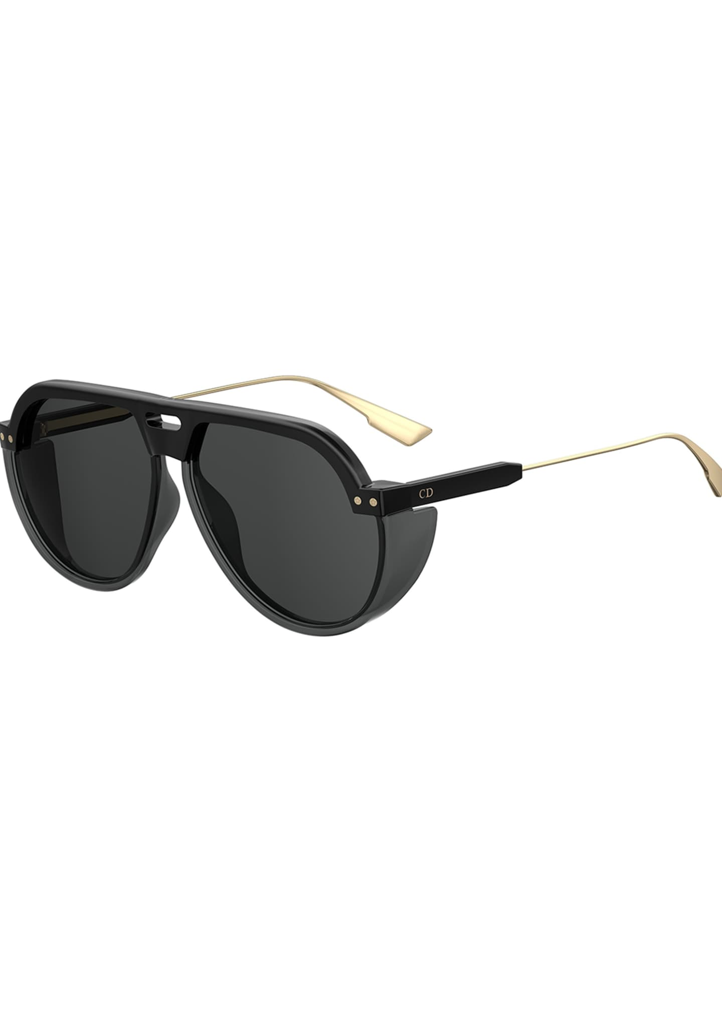 DiorClub3 Aviator Sunglasses w/ Side Blinders
