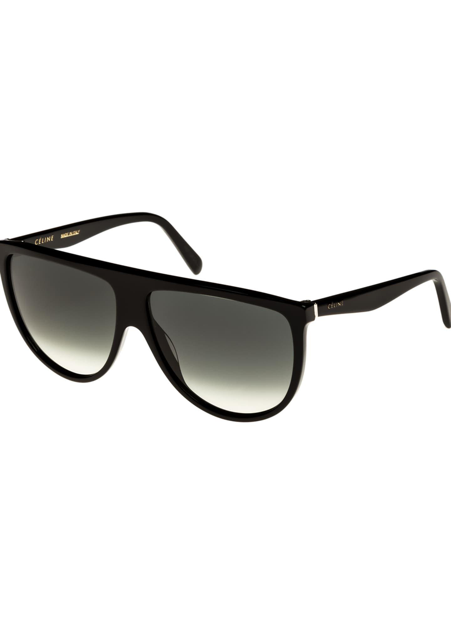 Celine Flattop Gradient Shield Sunglasses