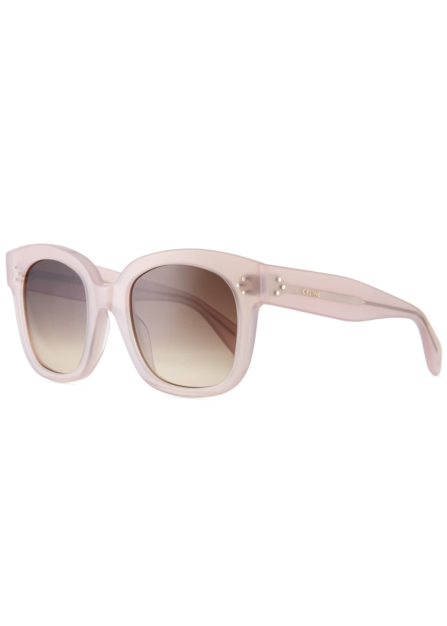 Celine Square Gradient Acetate Sunglasses, Black Pattern