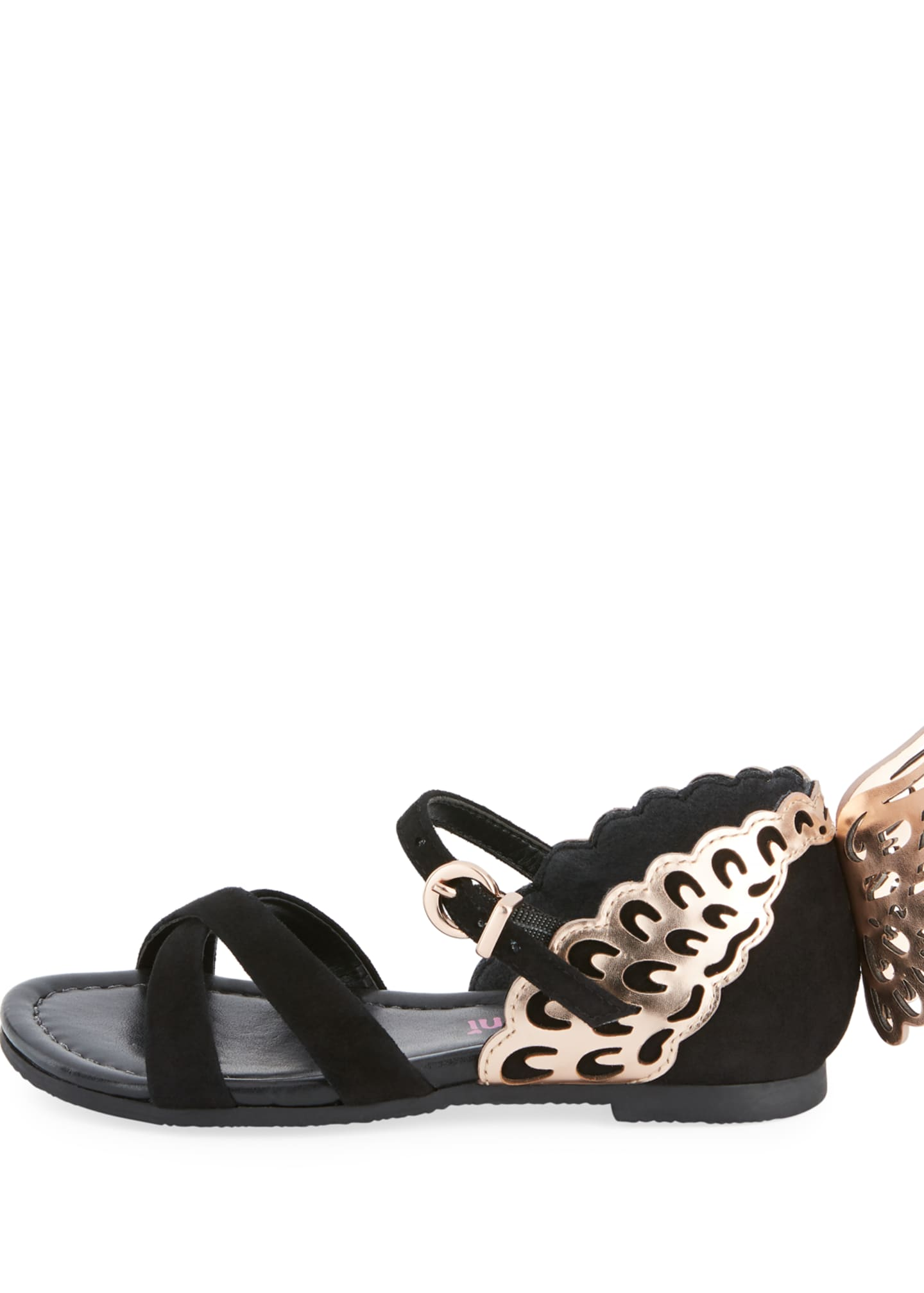 Image 2 of 4: Evangeline Crisscross Butterfly-Wing Sandals, Toddler/Kid