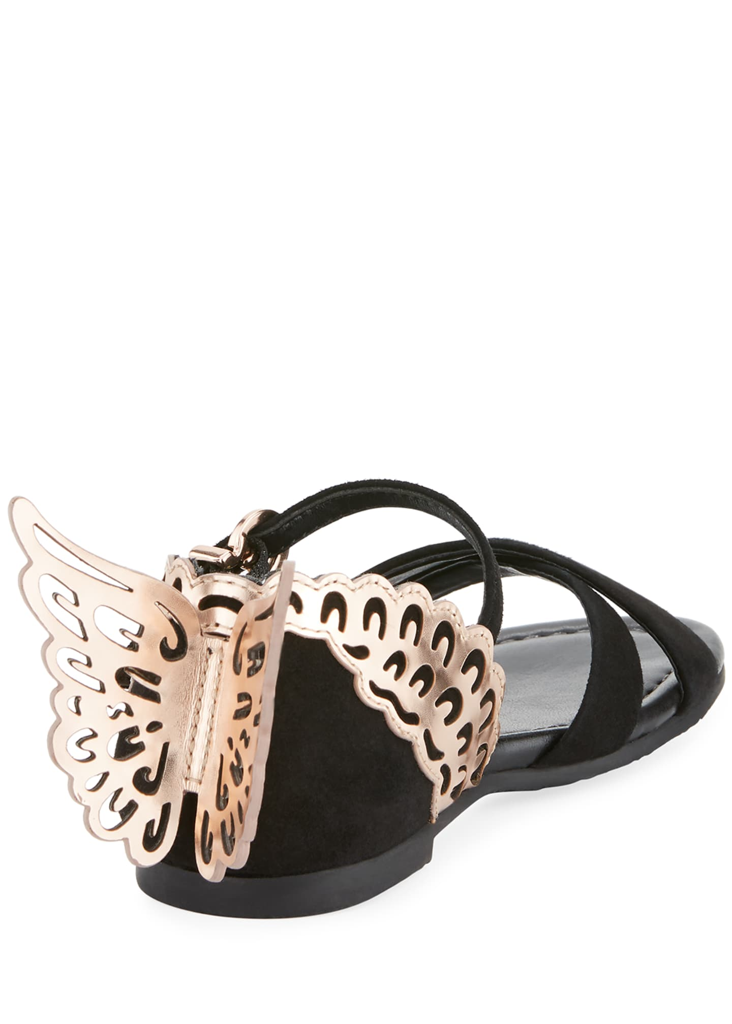 Image 4 of 4: Evangeline Crisscross Butterfly-Wing Sandals, Toddler/Kid