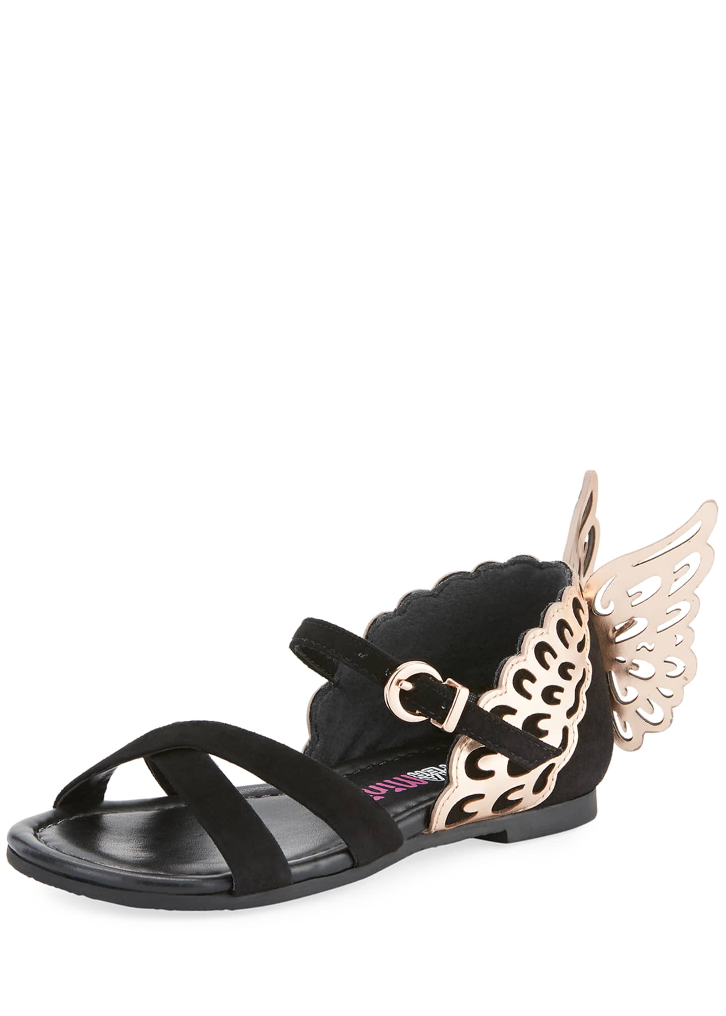 Image 1 of 4: Evangeline Crisscross Butterfly-Wing Sandals, Toddler/Kid