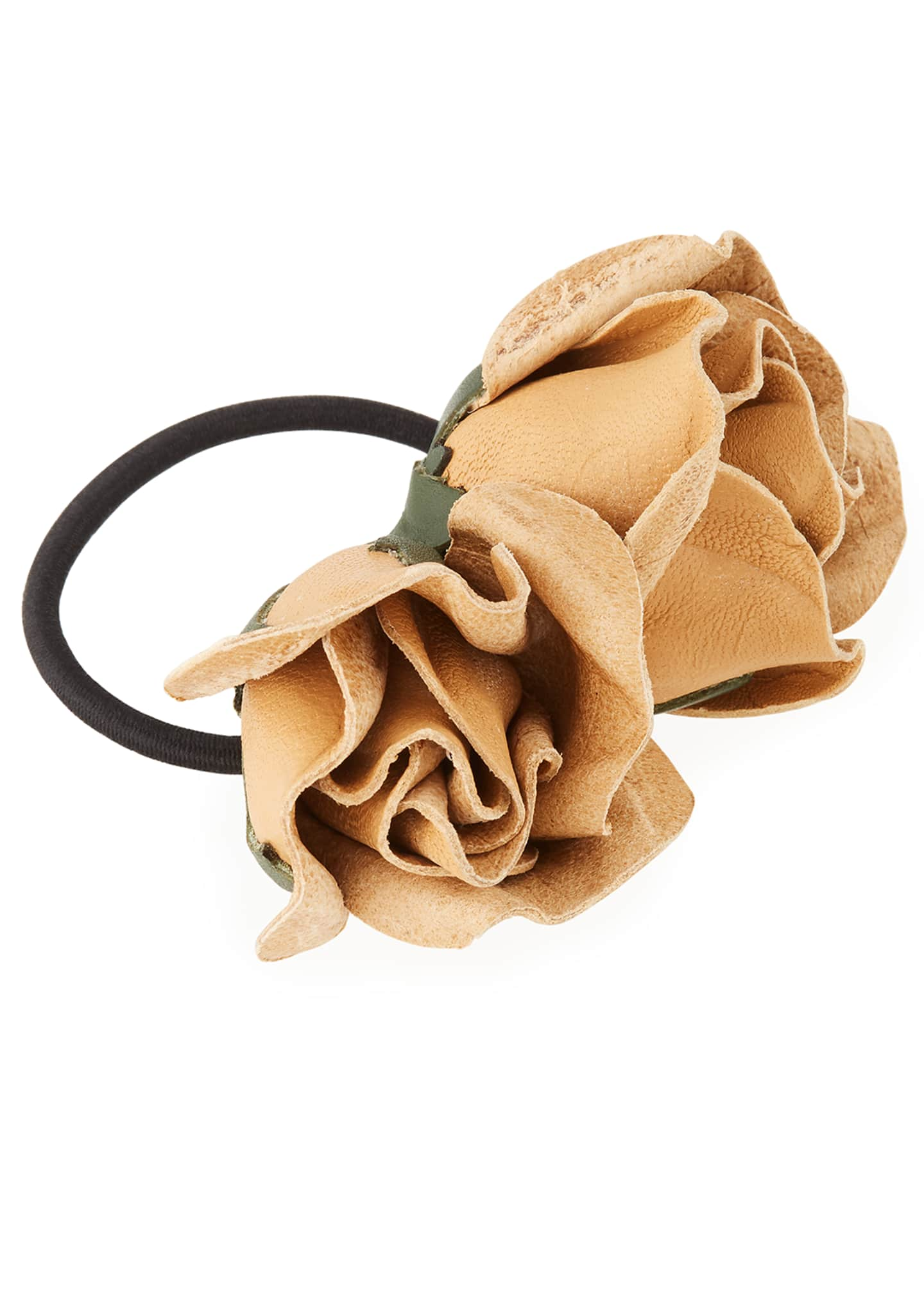 Epona Valley Isa Mini Leather Rose Ponytail Holder