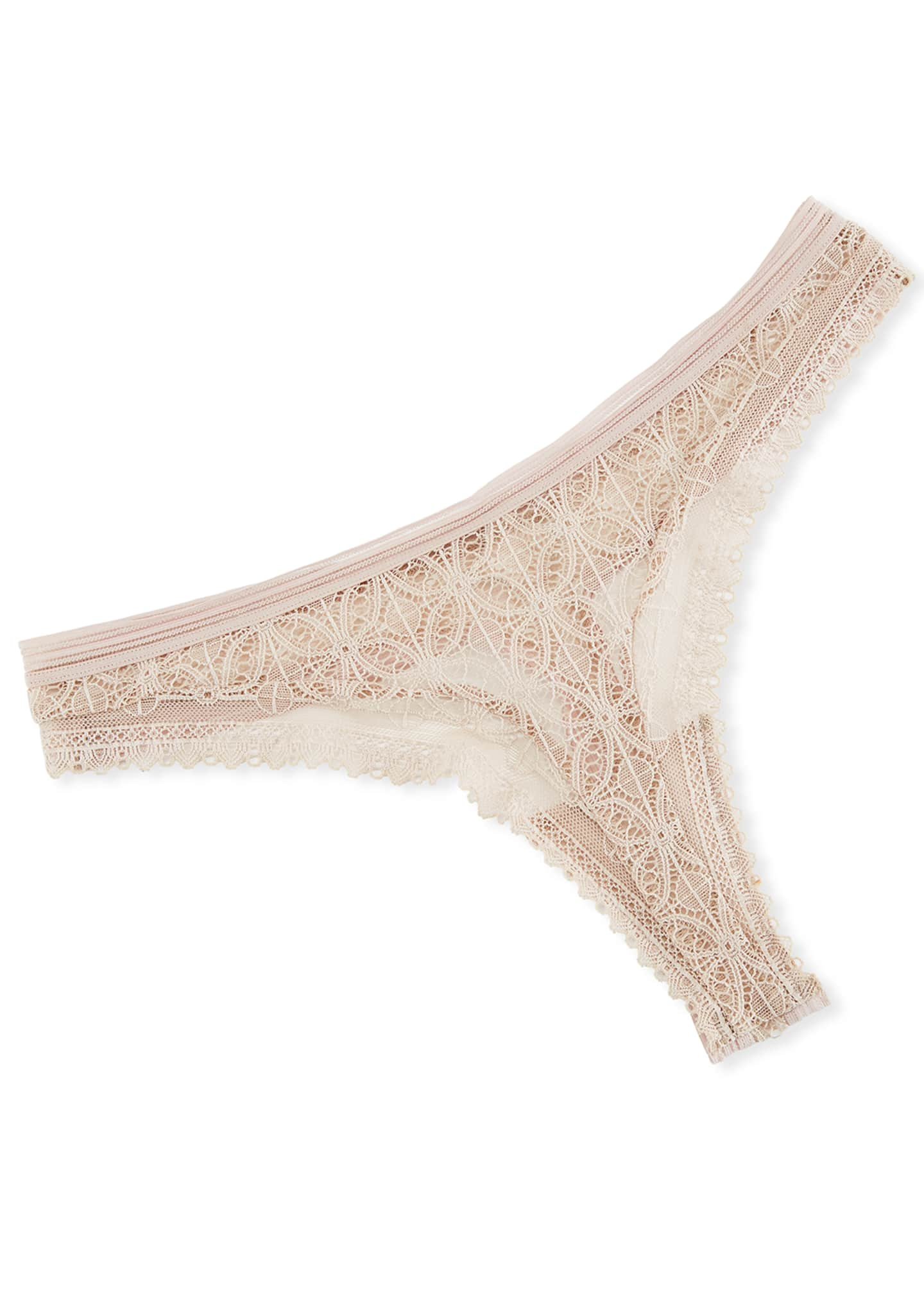 Image 1 of 2: Chloe Lace Thong Underwear