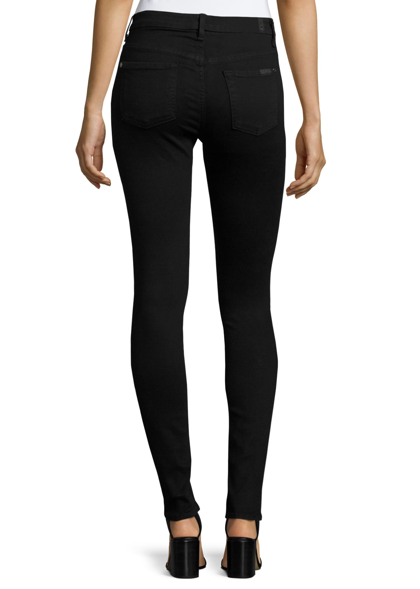 Image 2 of 3: High-Waist Skinny Jeans, Slim Illusion Luxe Black