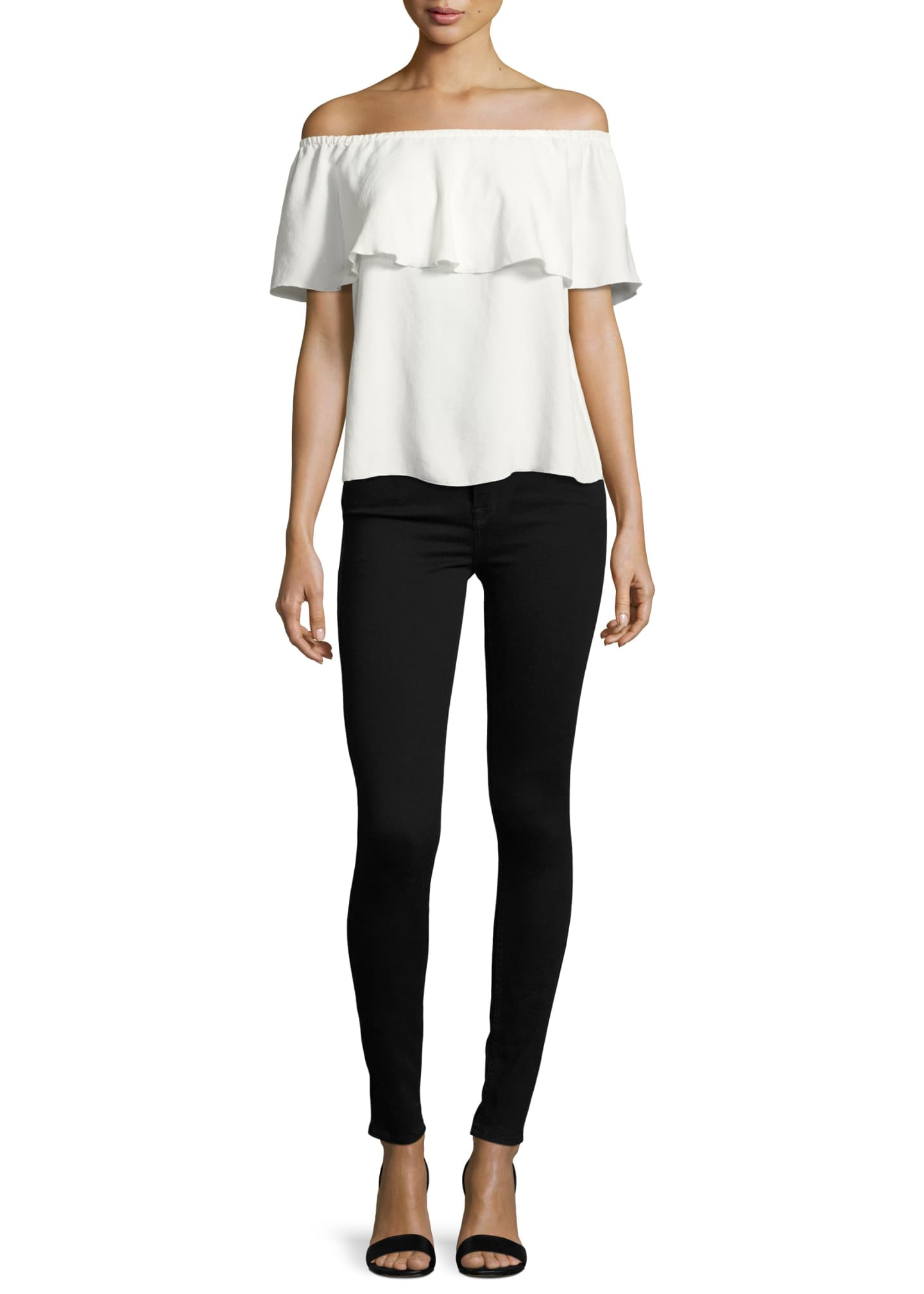 Image 3 of 3: High-Waist Skinny Jeans, Slim Illusion Luxe Black