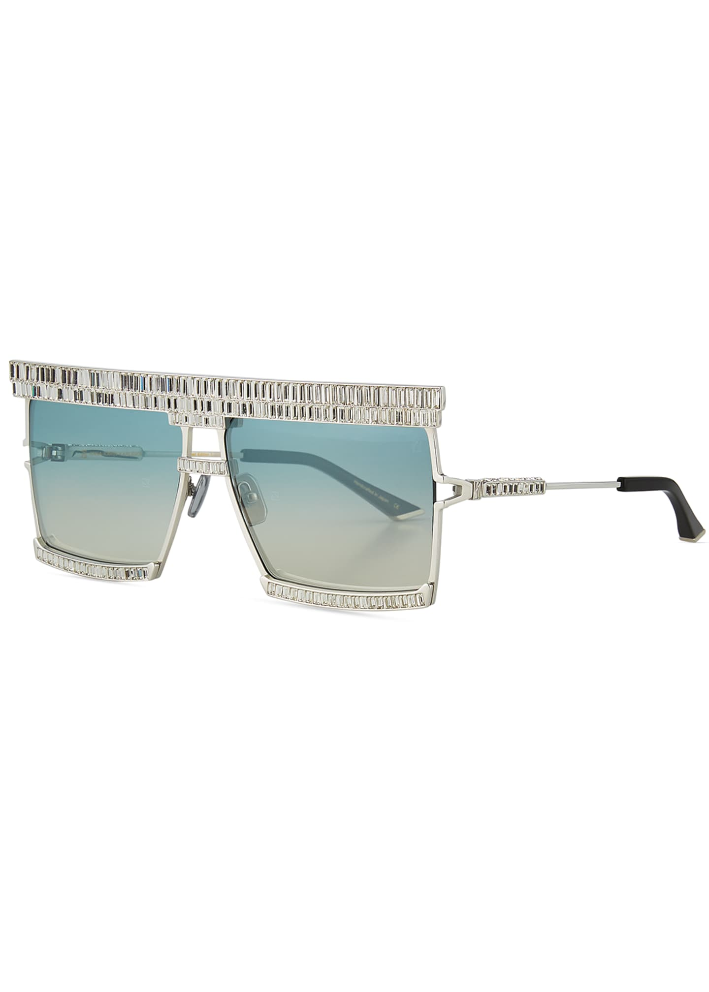 Anna-Karin Karlsson The Emperor Square Titanium Sunglasses w/