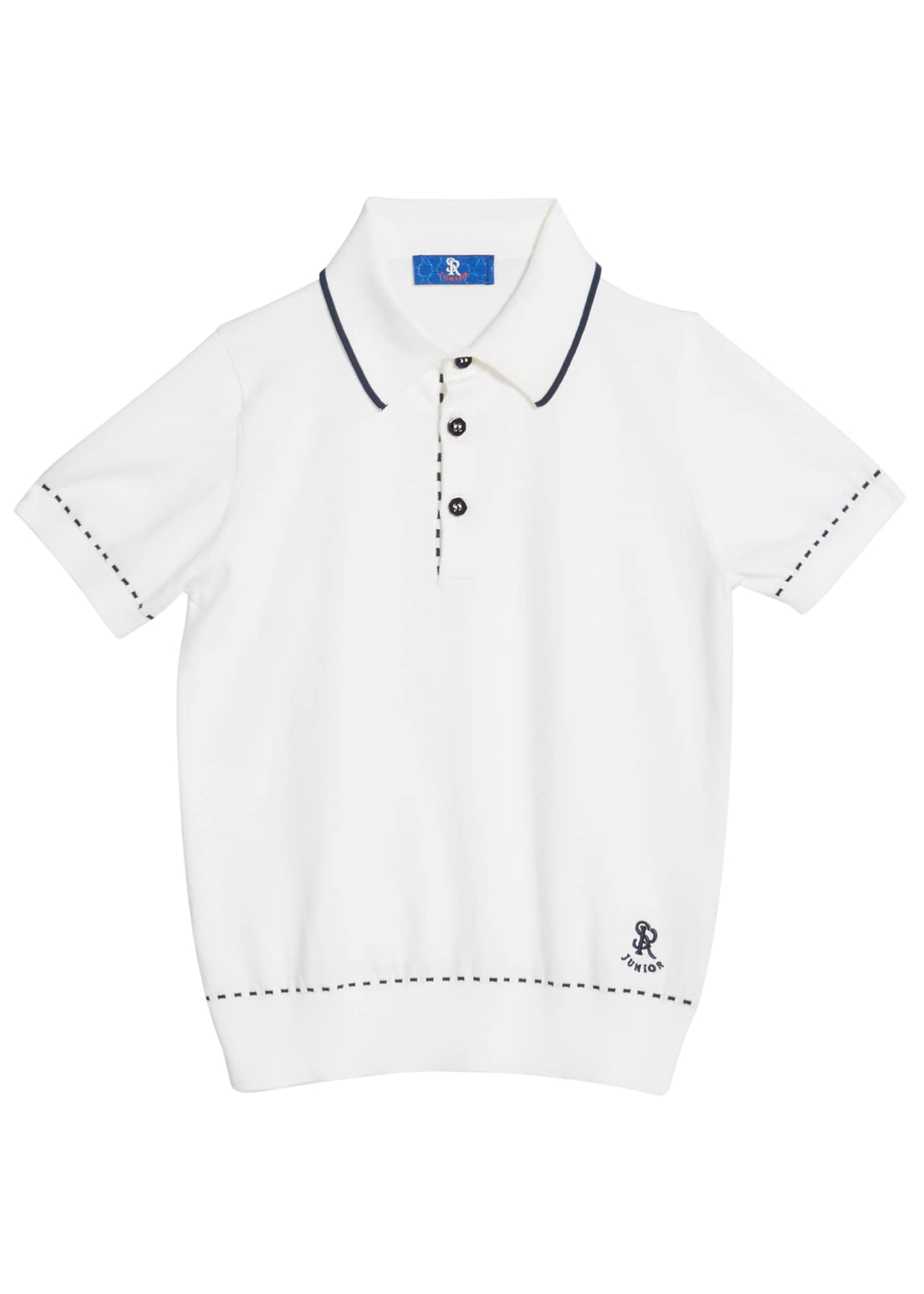 Image 1 of 1: Kids' Cotton Polo Sweater, Size 5-14