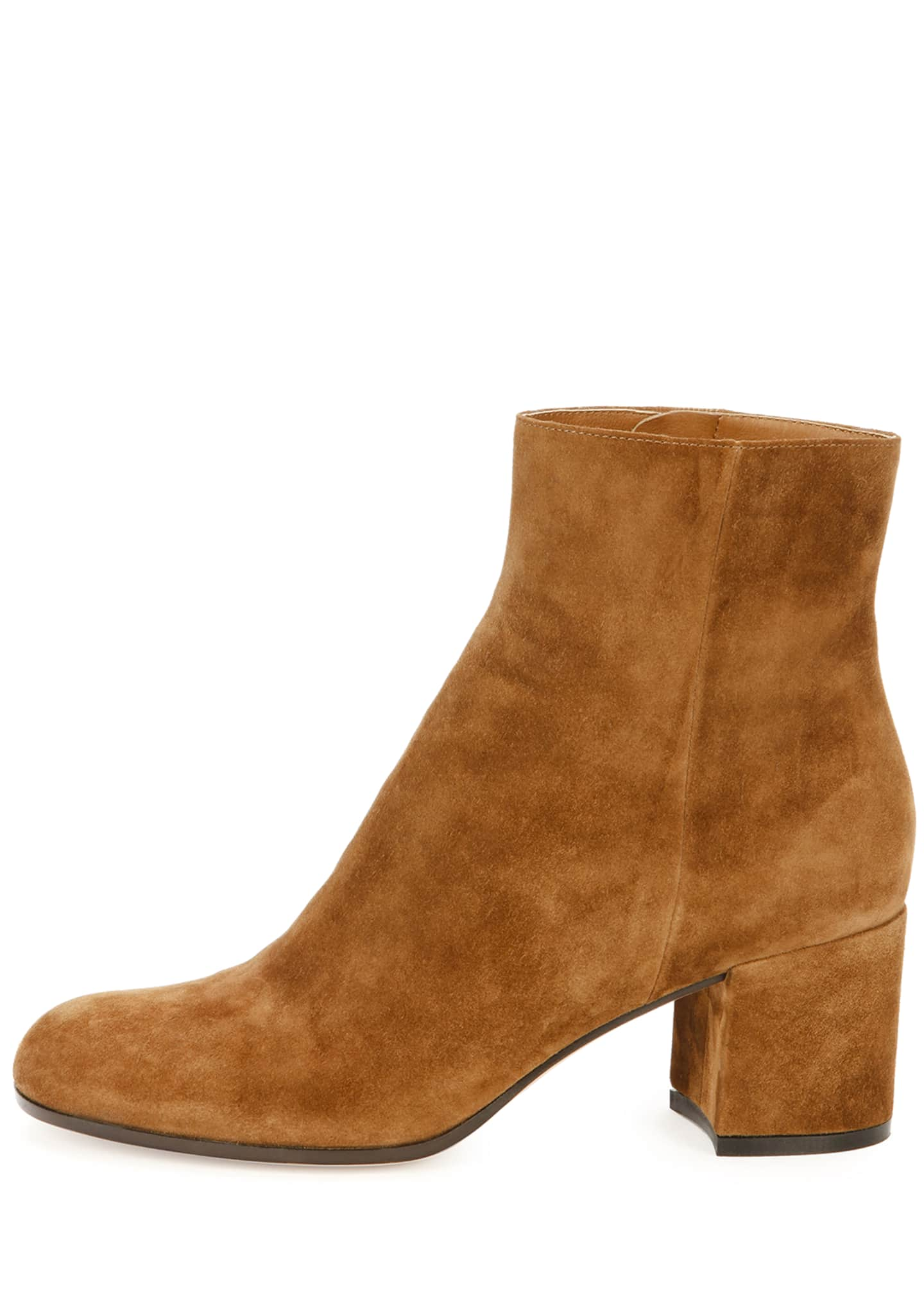 Image 2 of 3: Suede Block-Heel Ankle Boot