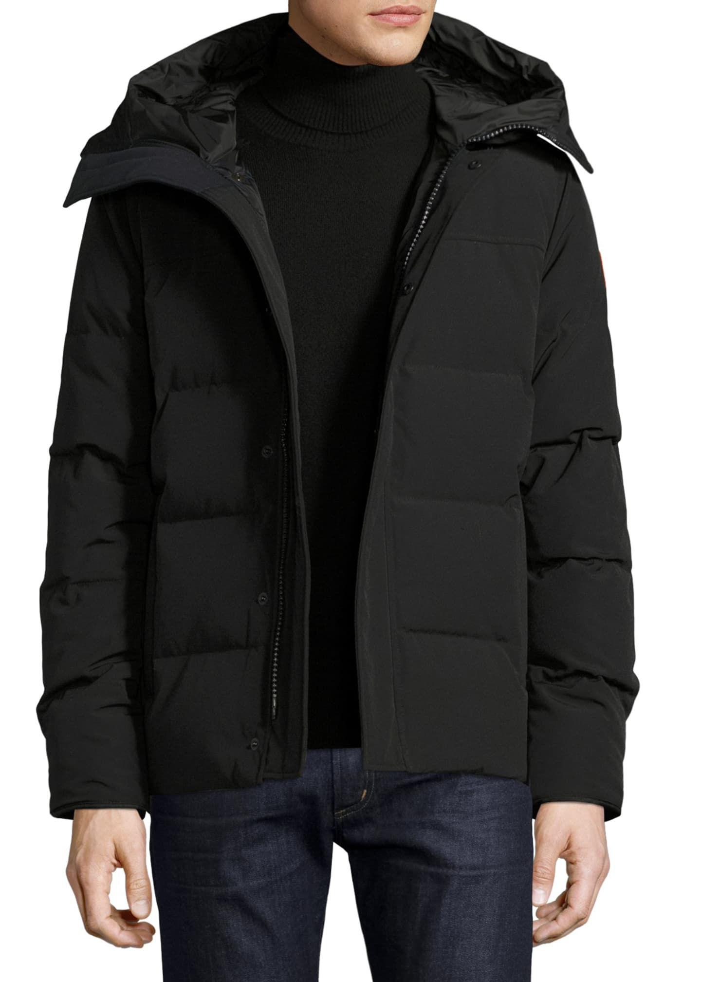 Canada Goose Macmillan Hooded Parka Coat, Black