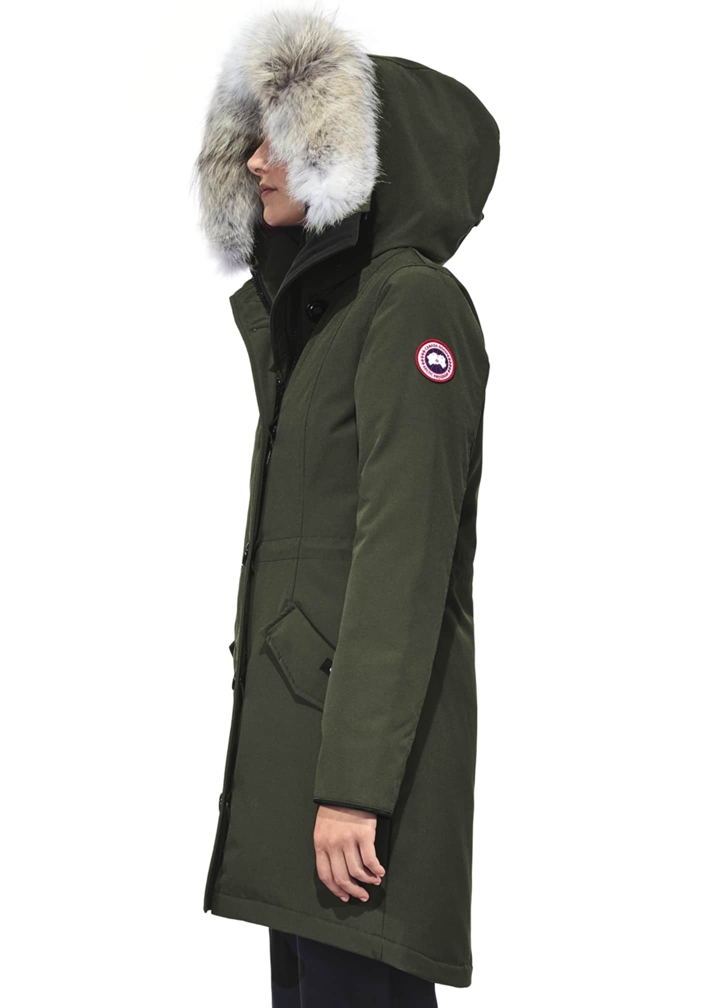 Image 2 of 5: Rossclair Fur-Trim Hooded Down Parka
