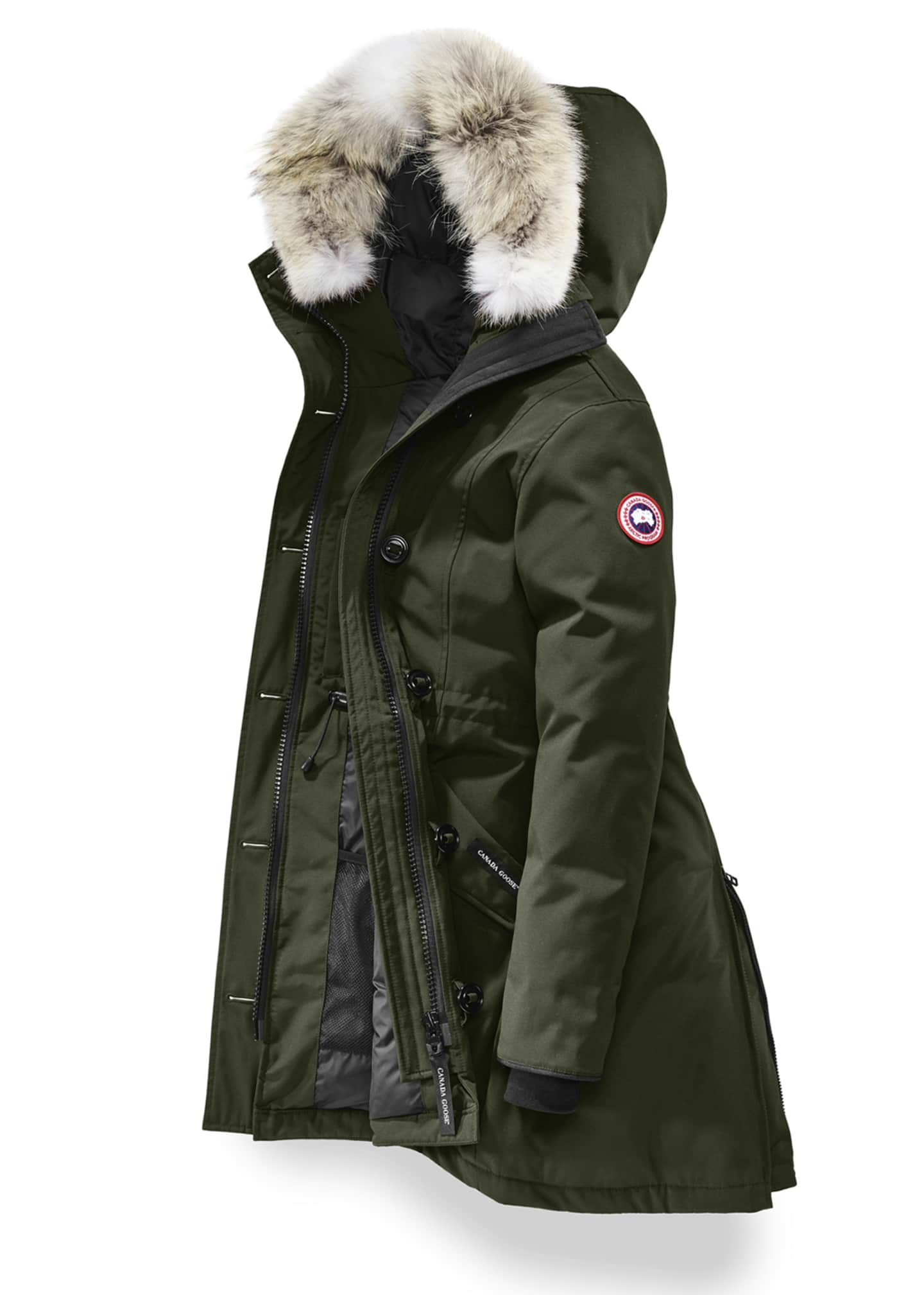 Image 4 of 5: Rossclair Fur-Trim Hooded Down Parka
