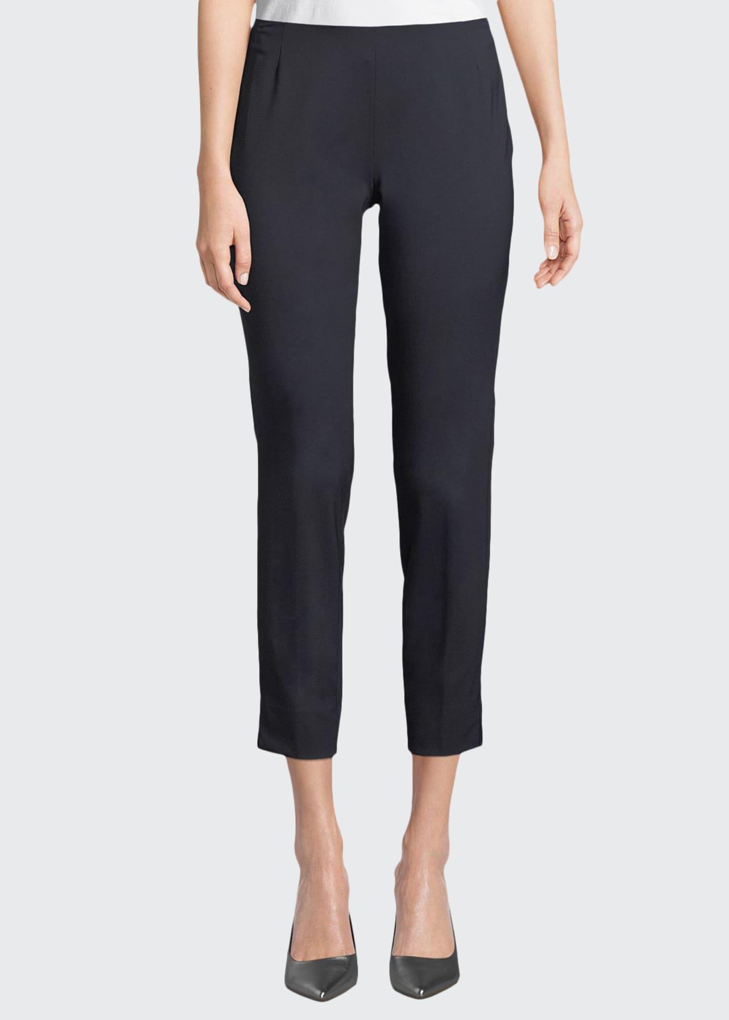 Lafayette 148 New York Stanton Stretch-Wool Pants