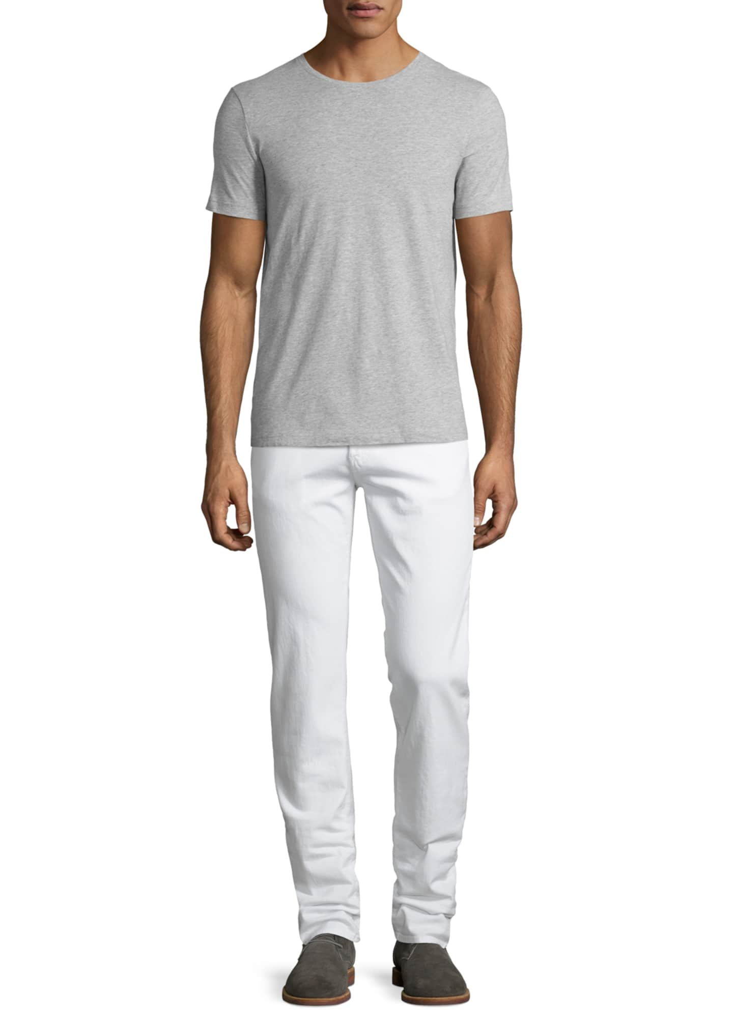 Image 4 of 5: Tyler Deconstructed Slim Jeans, White