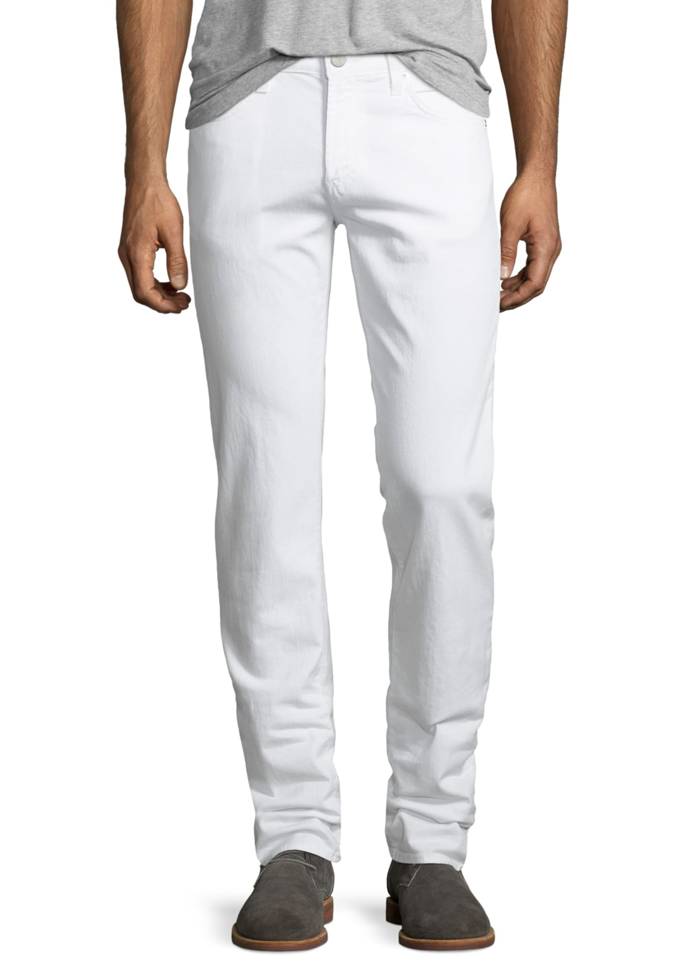 Image 1 of 5: Tyler Deconstructed Slim Jeans, White