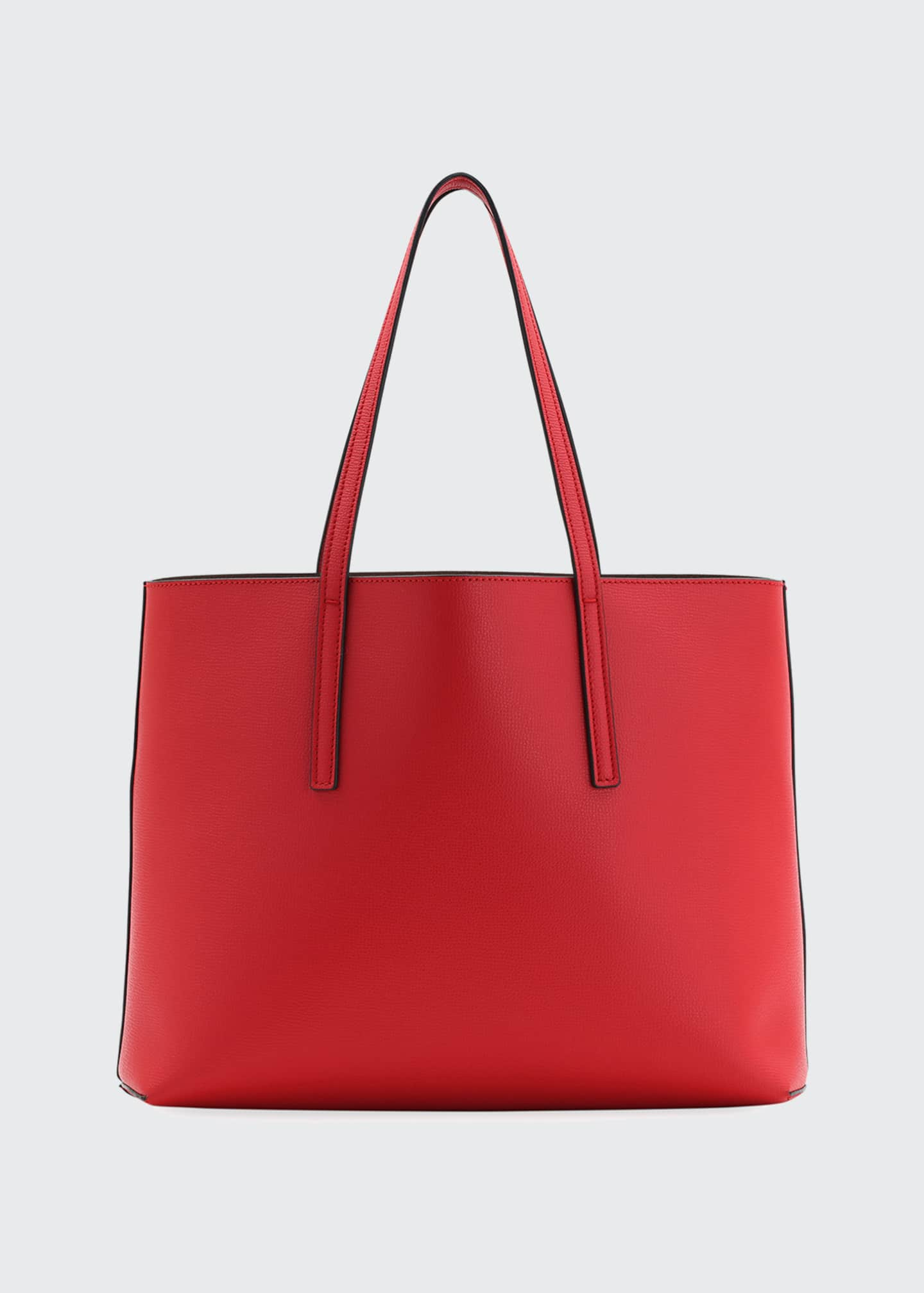 Image 3 of 4: F Logo Calf Leather Shopping Tote Bag