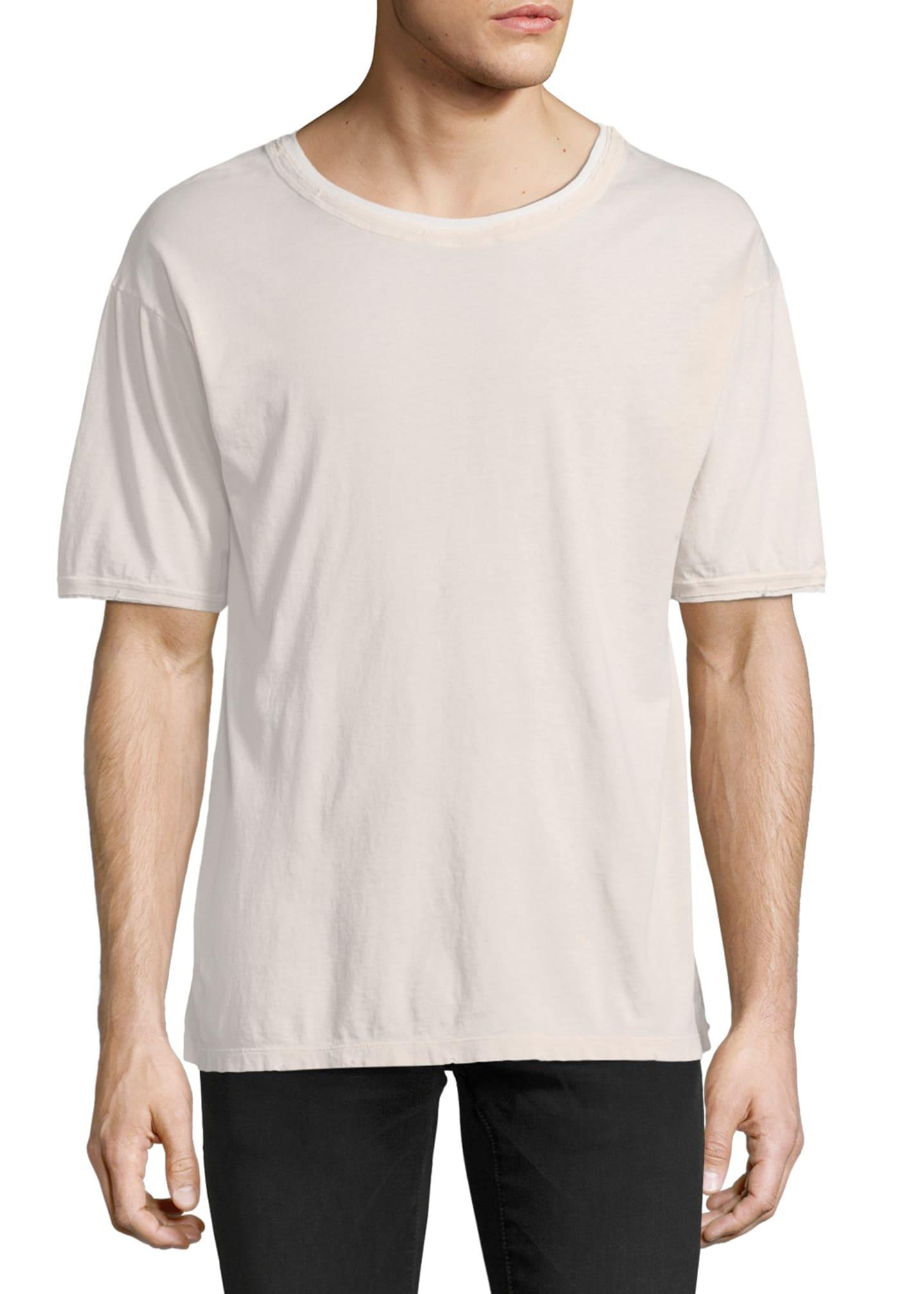 Saint Laurent Distressed Cotton T-Shirt